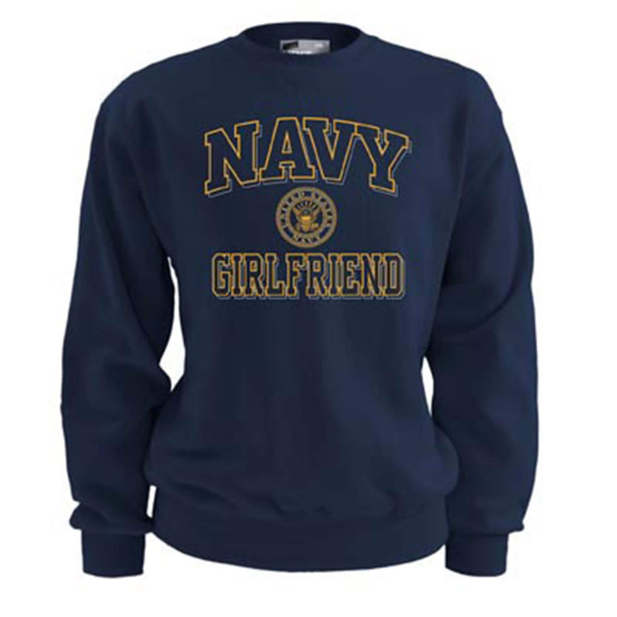 soffe usn navy fleece crew sweatshirt navy a
