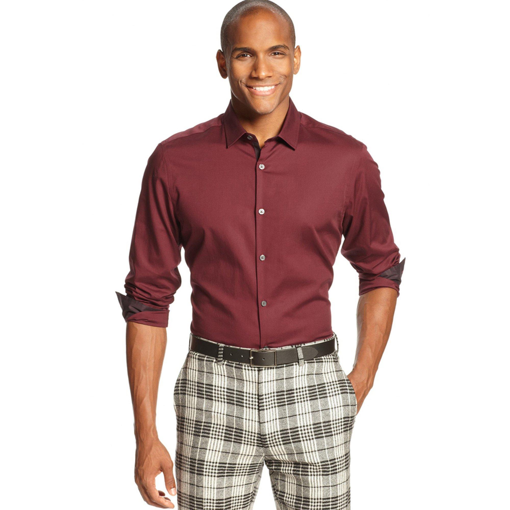 alfani s holden solid sport shirt s clothing