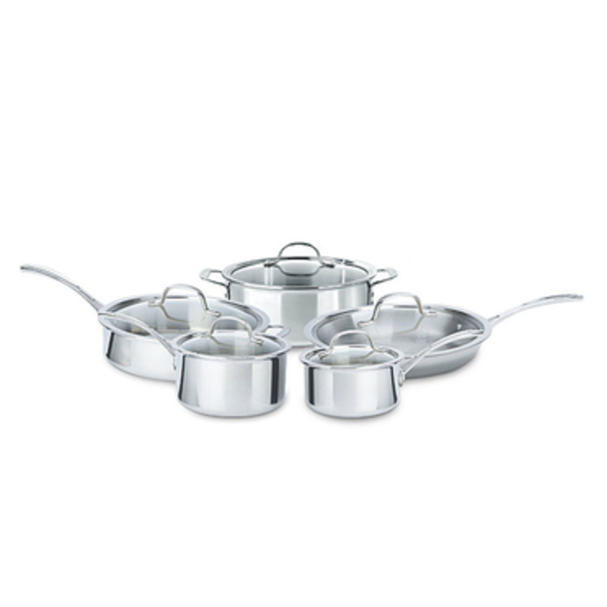 Strange Calphalon Tri Ply 10 Piece Stainless Steel Cookware Set Home Remodeling Inspirations Genioncuboardxyz