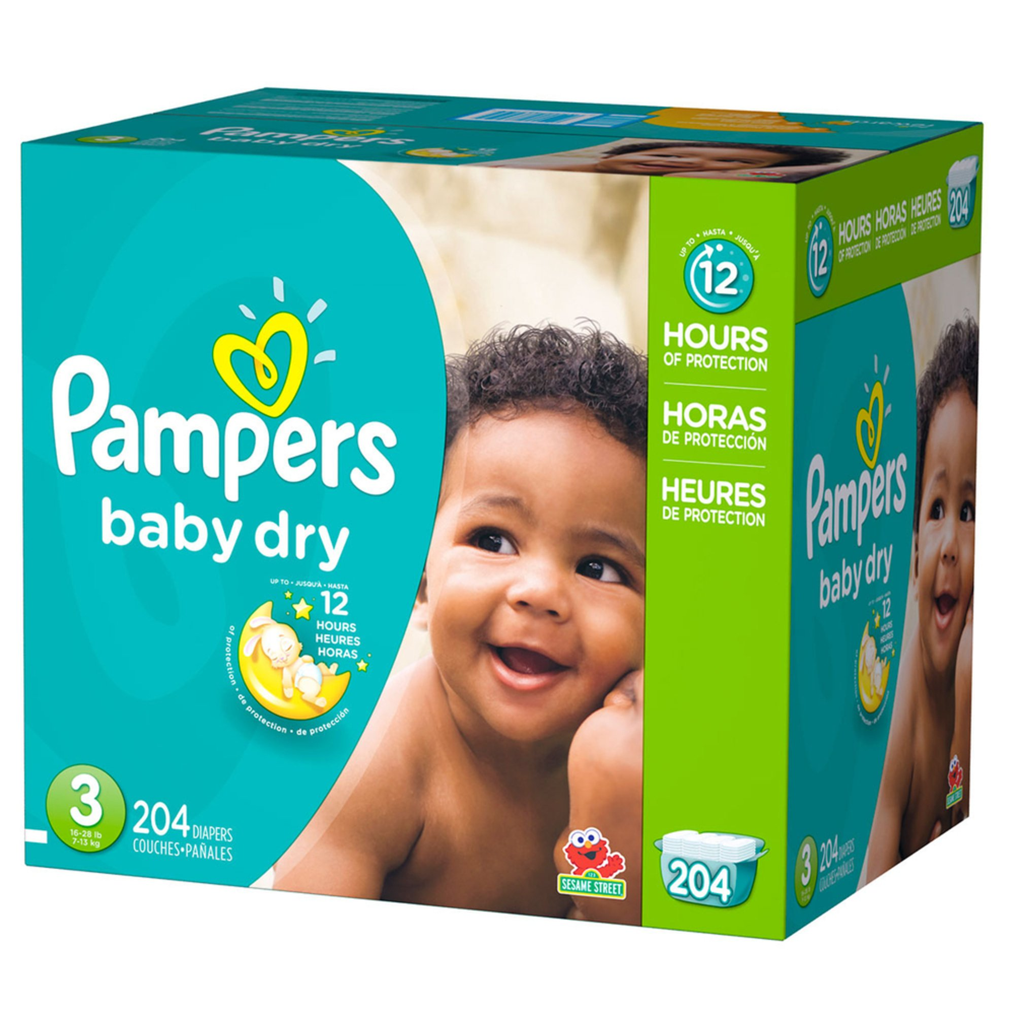 Pampers Baby Dry - Size 3, Economy Pack Plus Diapers 204-count ...