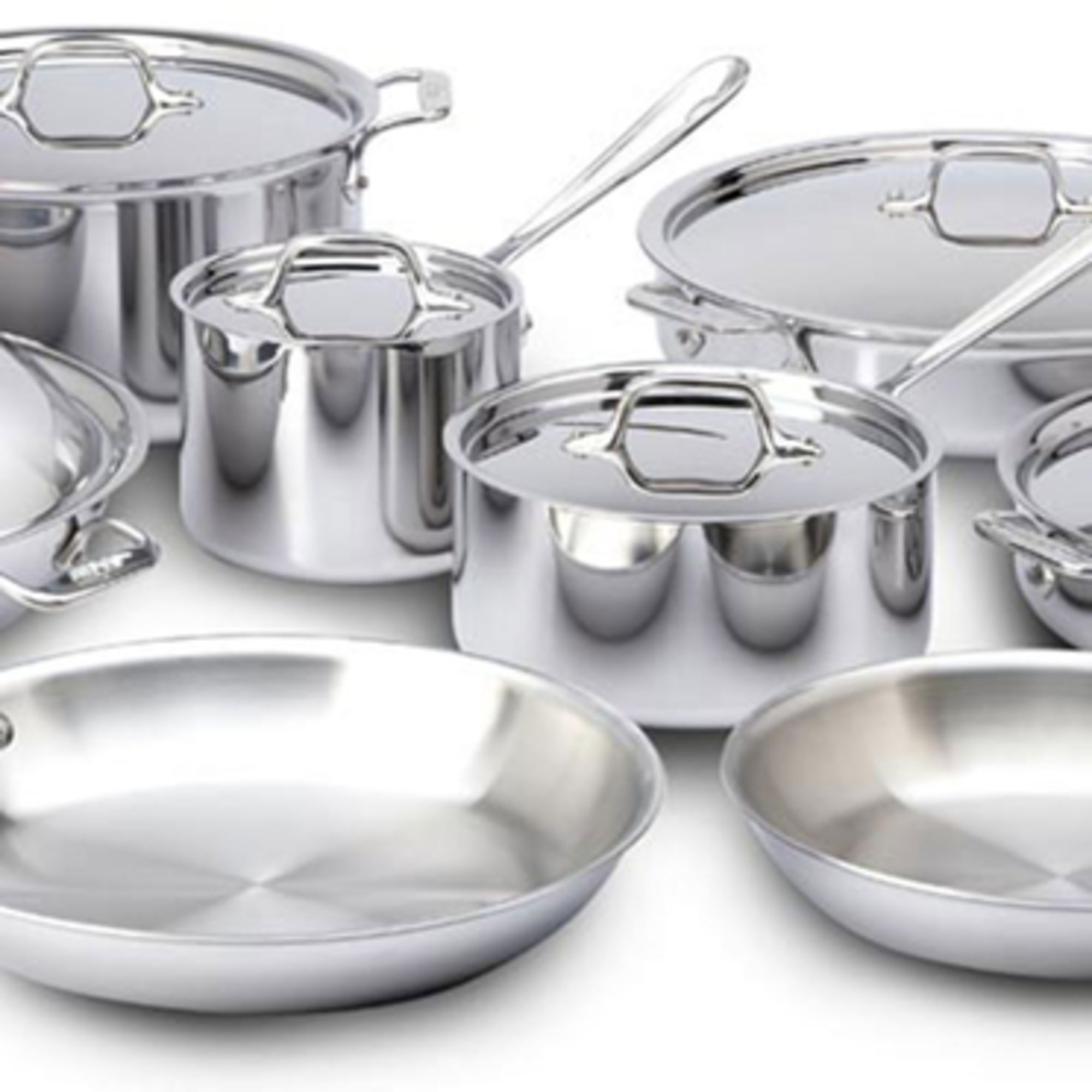 All Clad Stainless Steel 14 Piece Cookware Set Cookware
