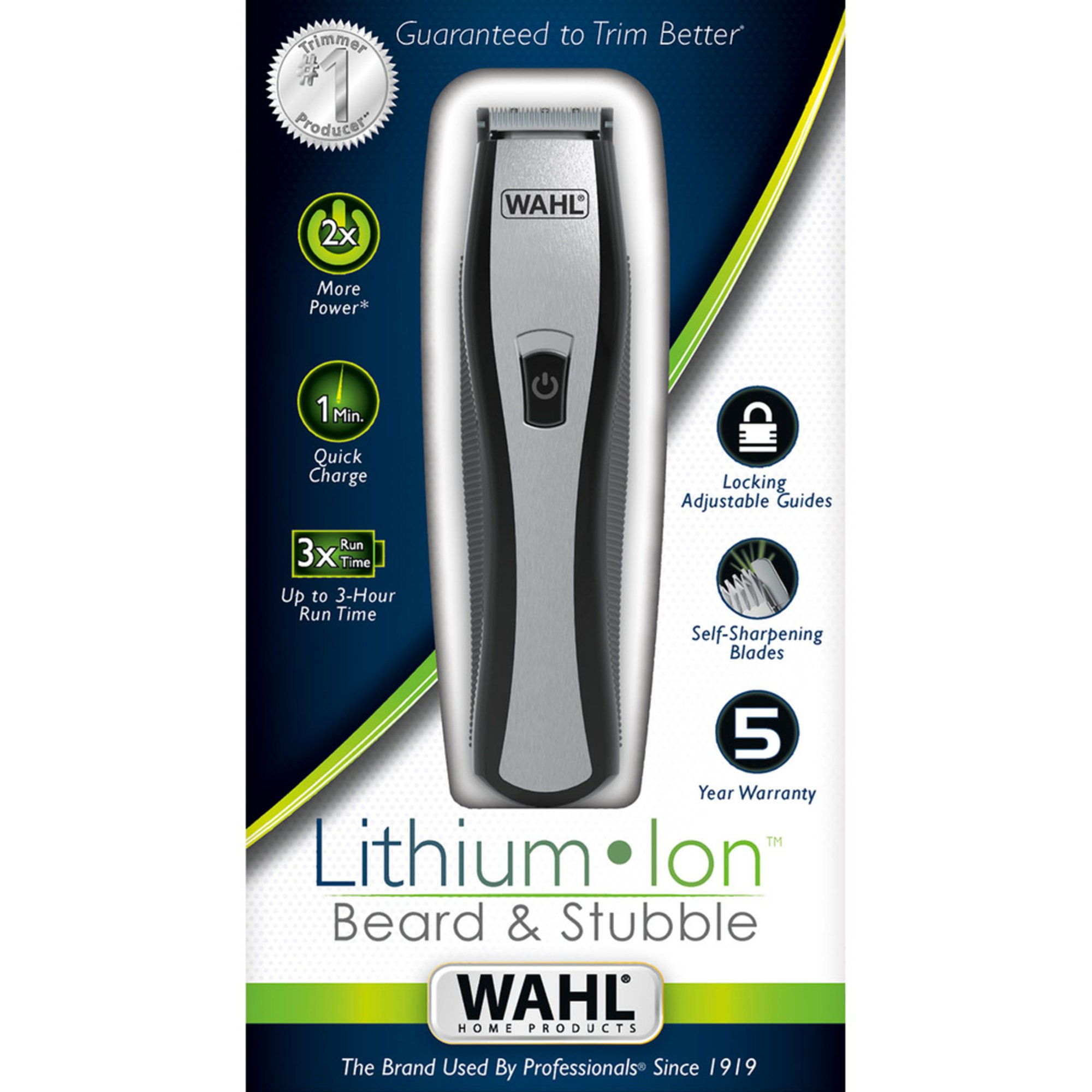wahl 9867 lithium ion beard and stubble trimmer groomers trimmers shop your navy exchange. Black Bedroom Furniture Sets. Home Design Ideas