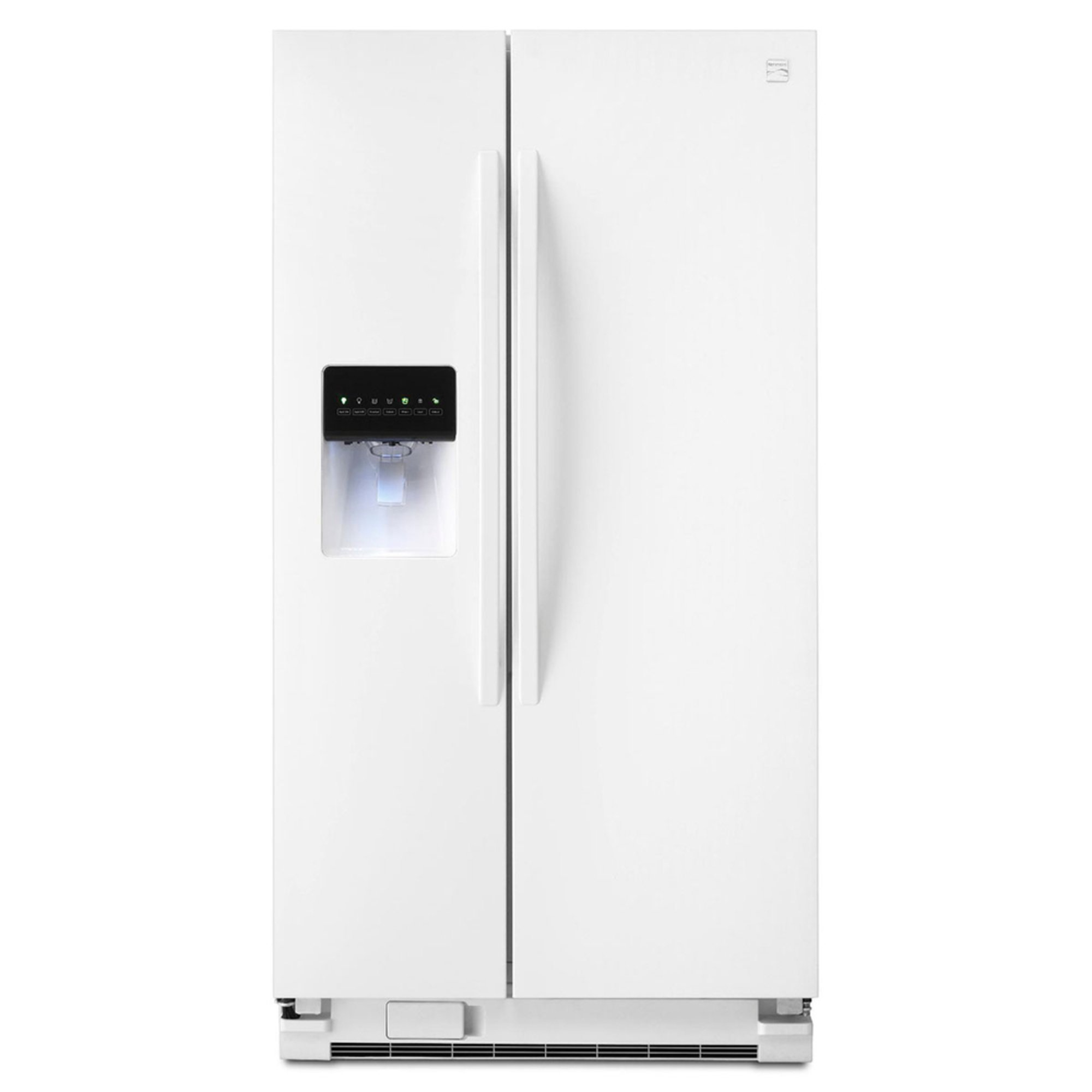 How To Level A Kenmore Refrigerator Kenmore 25 Cuft Side By Side Refrigerator White 46 51122