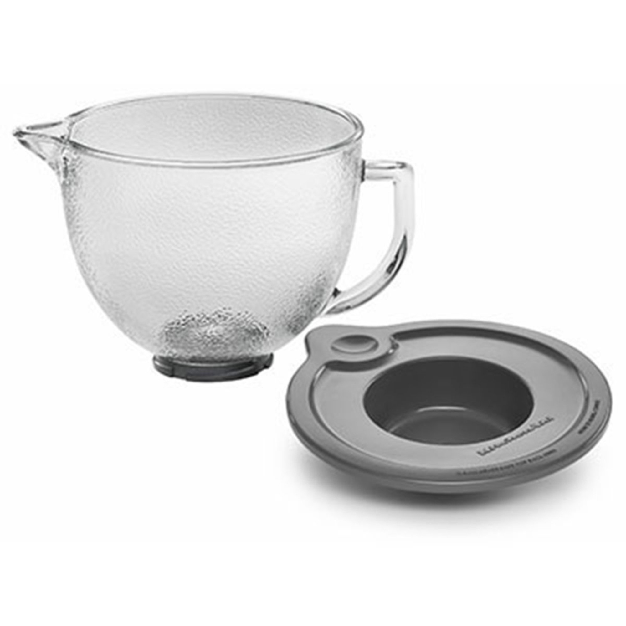 kitchenaid kitchenaid 5 quart hammered glass bowl with lid for tilt