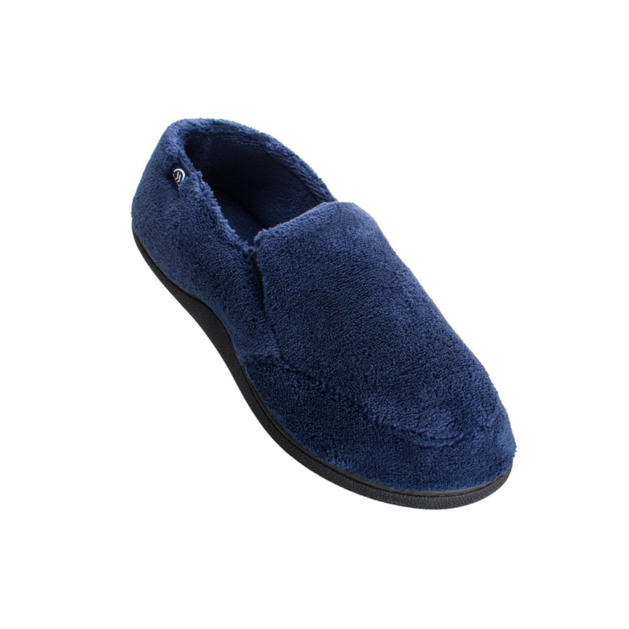 totes isotoner men s microterry slip on slipper men s mens coolers cushioned sole slip on mule thermal slippers