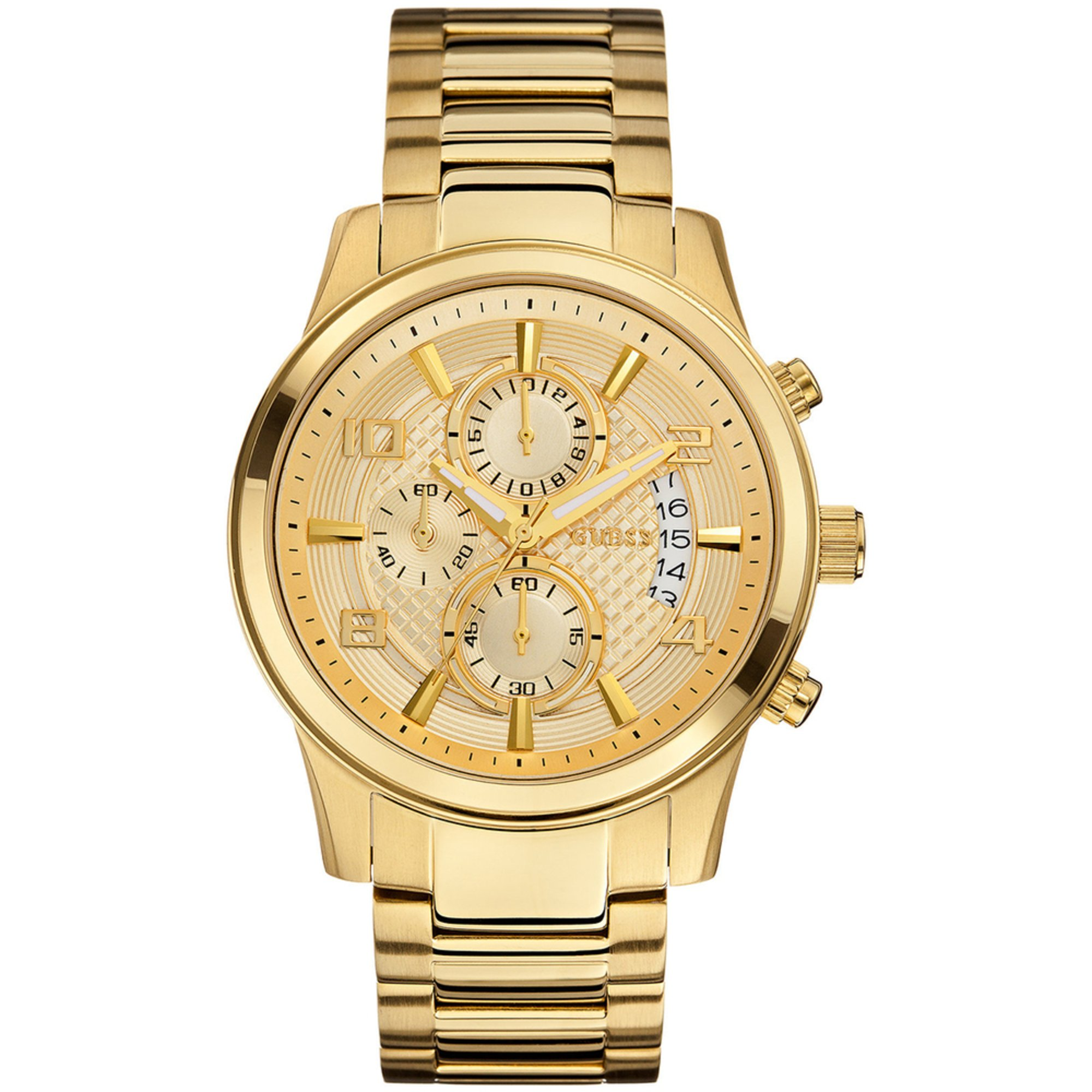 Guess Men's Chronograph Gold Tone Bracelet Watch, 44mm ...
