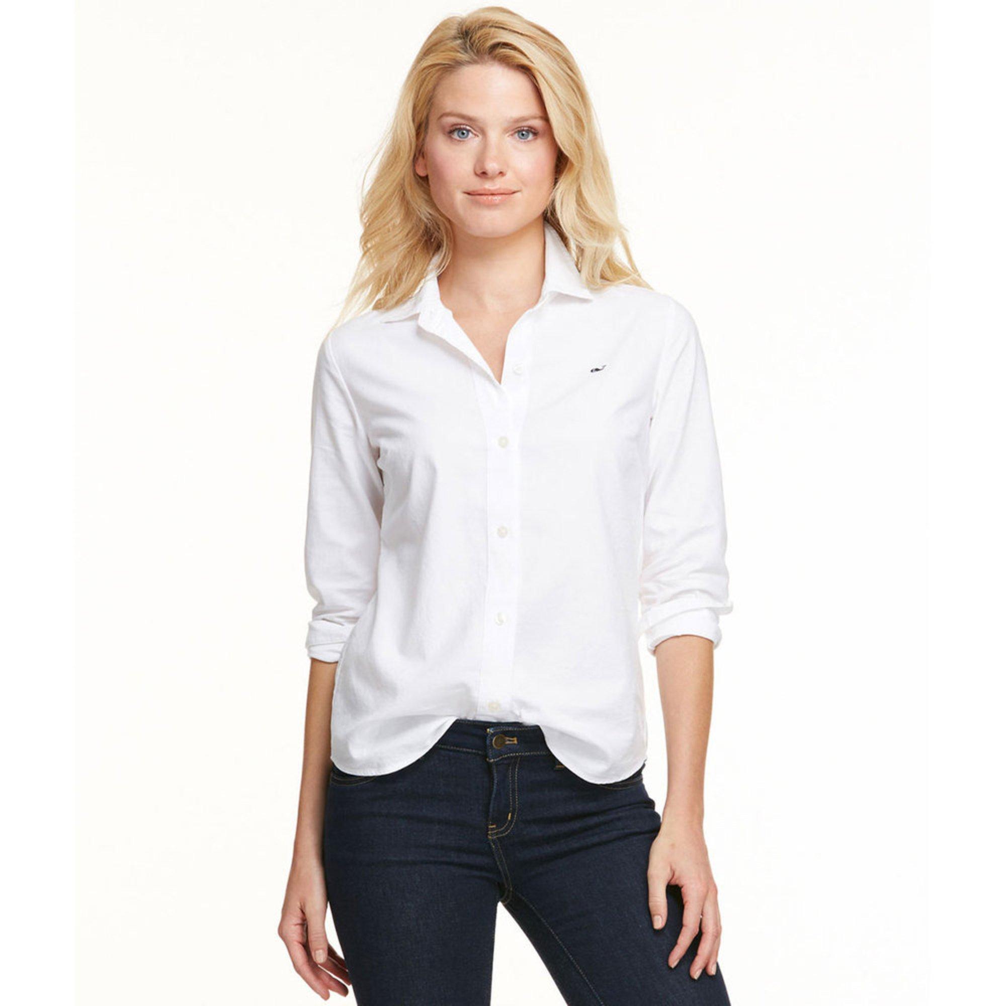 Vineyard Vines Oxford Shirt In White Women Apparel