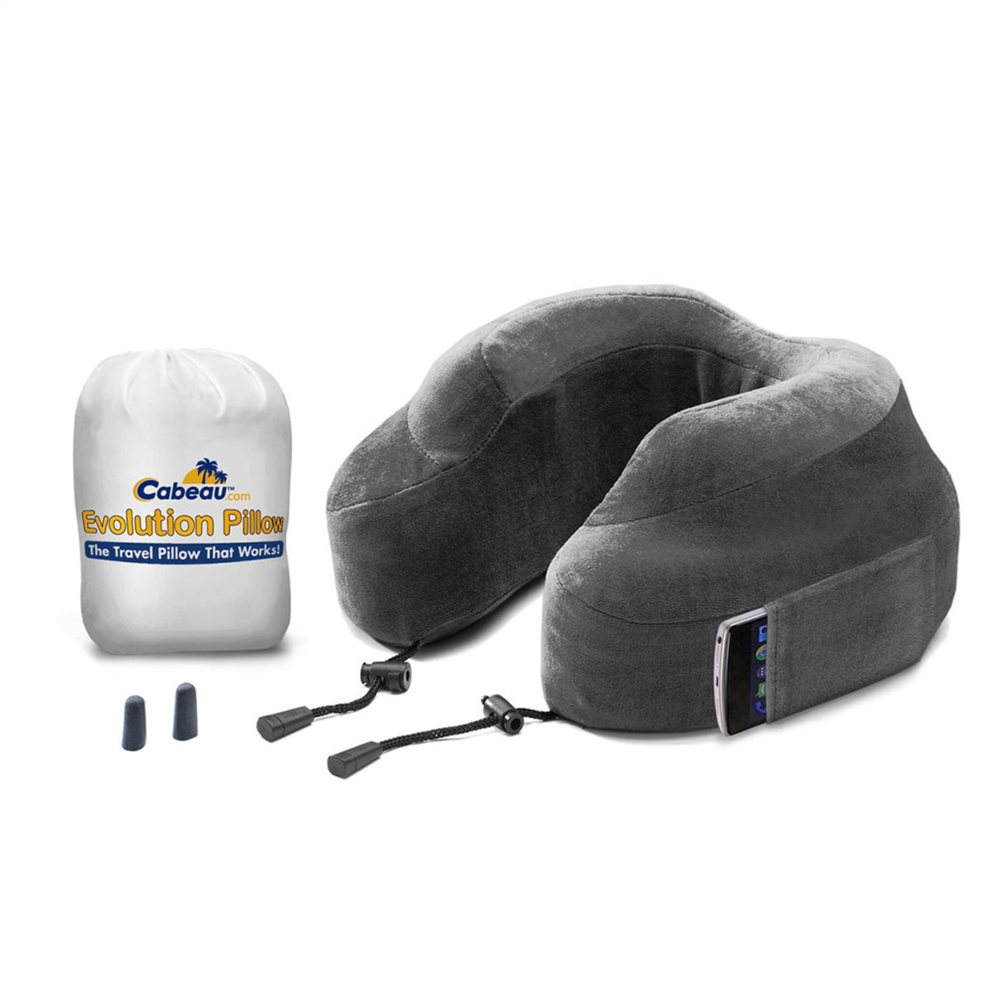 Lewis N Clark Cabeau Evolution Pillow Grey Travel Accessories Luggage Amp Backpacks Shop