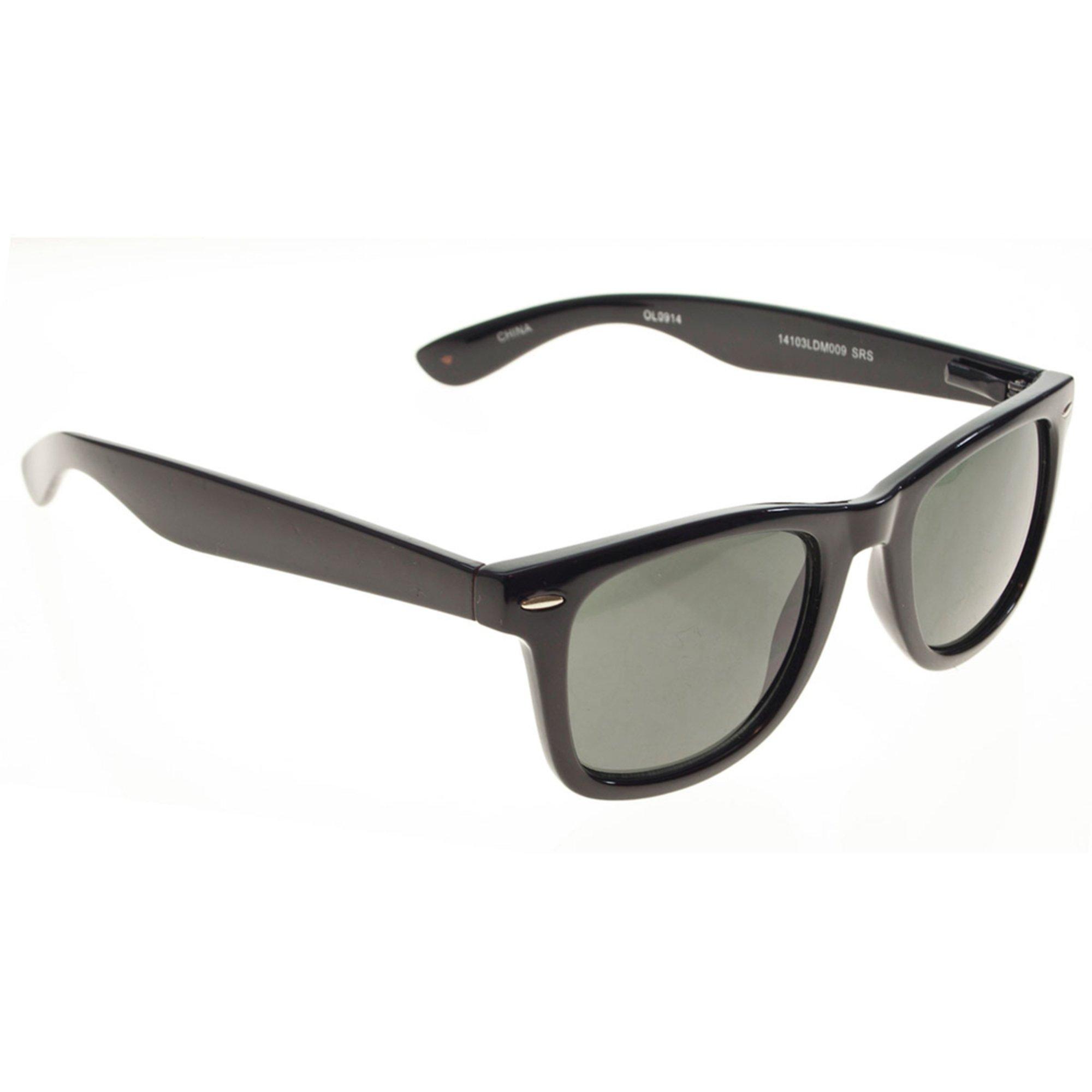 Dockers Men's Black Wayfarer Sunglasses 50mm   Men's