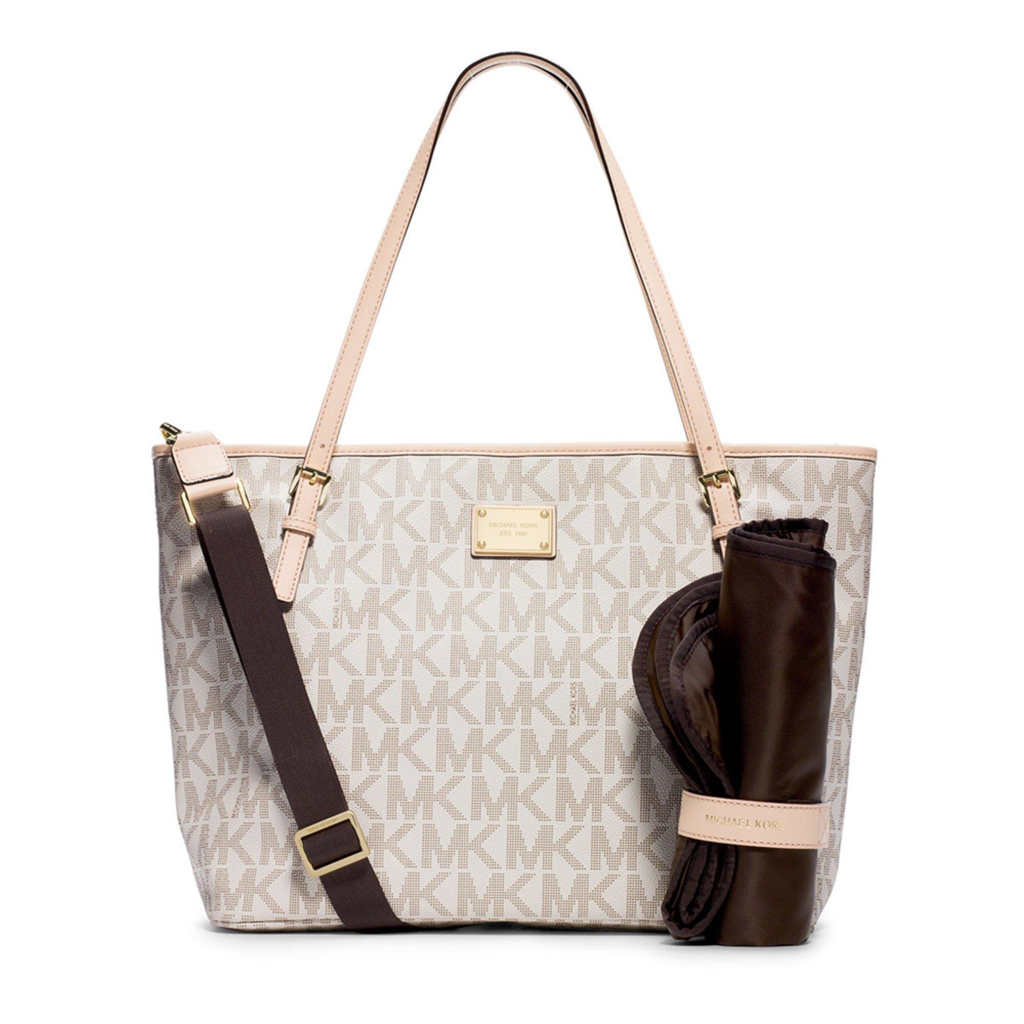 michael michael kors jet set diaper bag vanilla handbags accessories all shop your navy. Black Bedroom Furniture Sets. Home Design Ideas