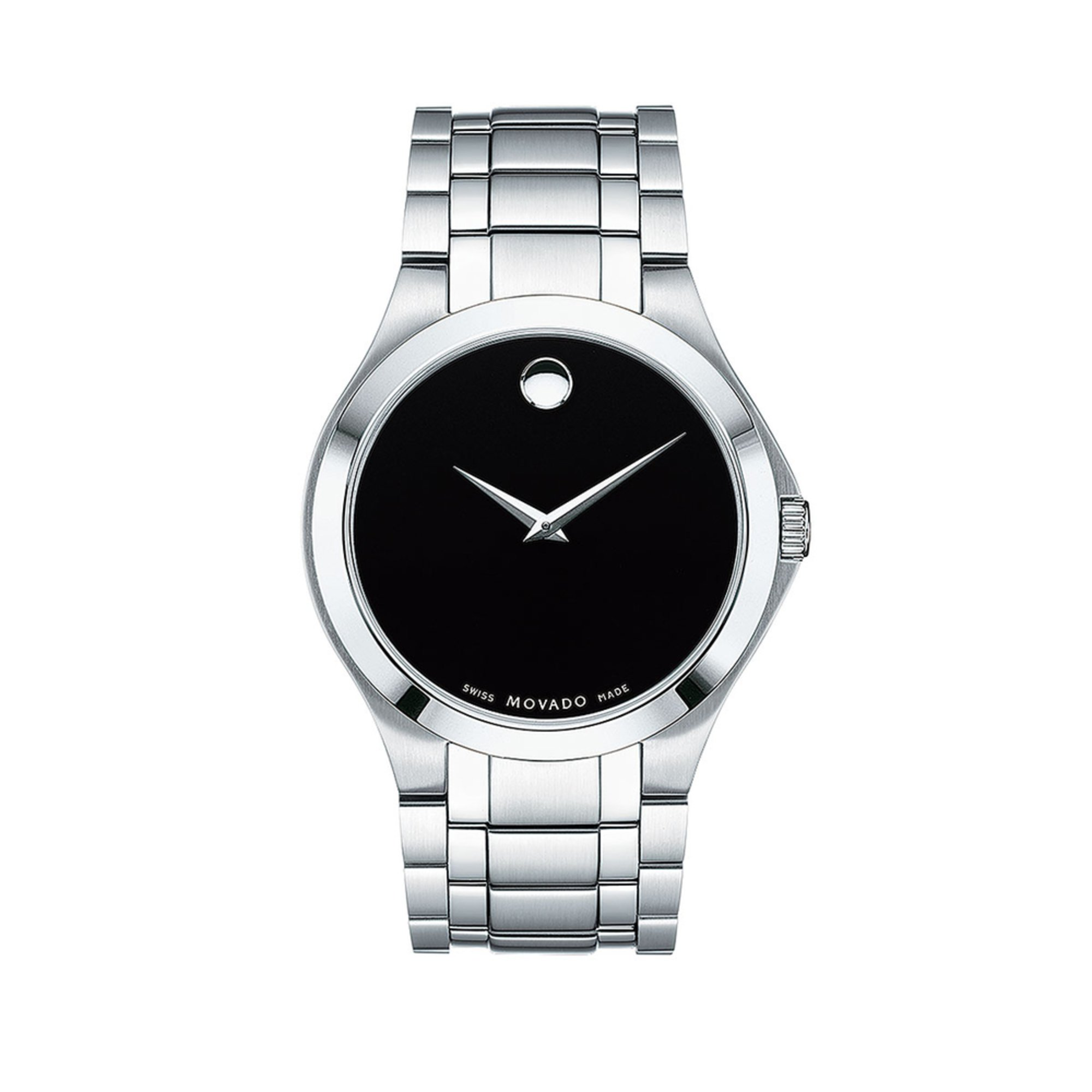 movado s black museum stainless steel 40mm