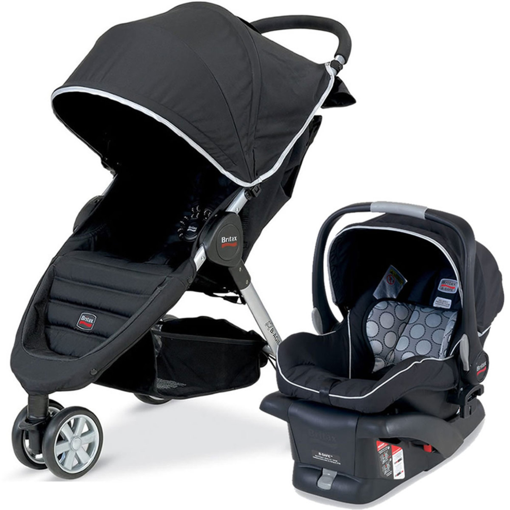 britax b agile travel system black travel systems kids shop your navy exchange official. Black Bedroom Furniture Sets. Home Design Ideas