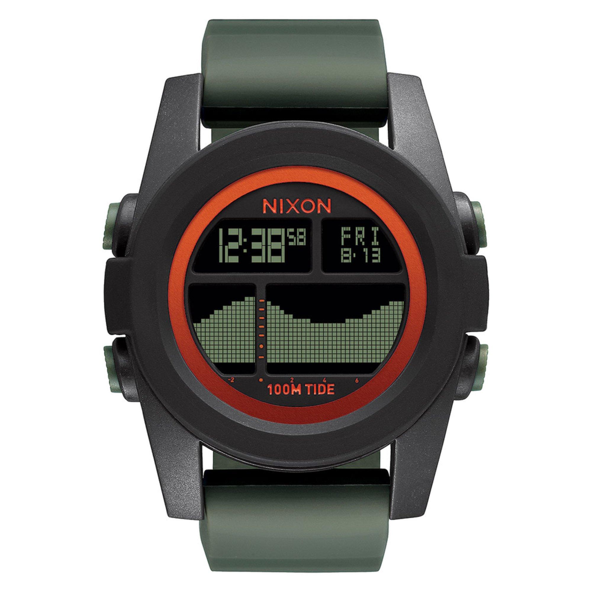 nixon s unit tide digital surplus green silicone
