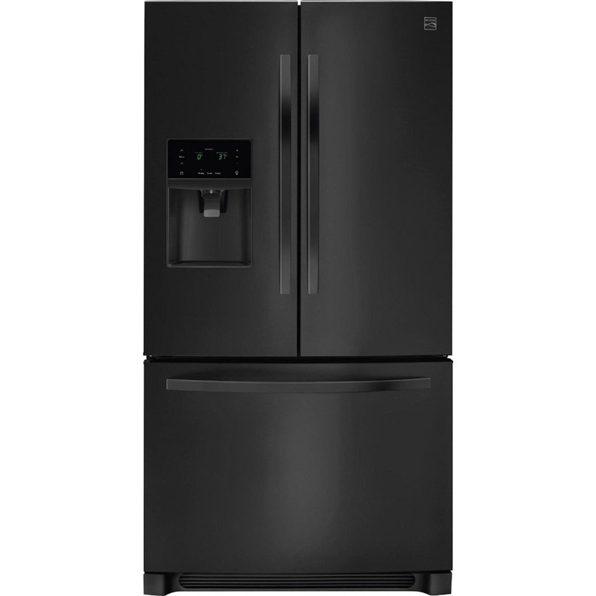 27 Cu Ft French Door Refrigerator: Kenmore 27.2-cu.ft. French Door Refrigerator, Black (46-70349)