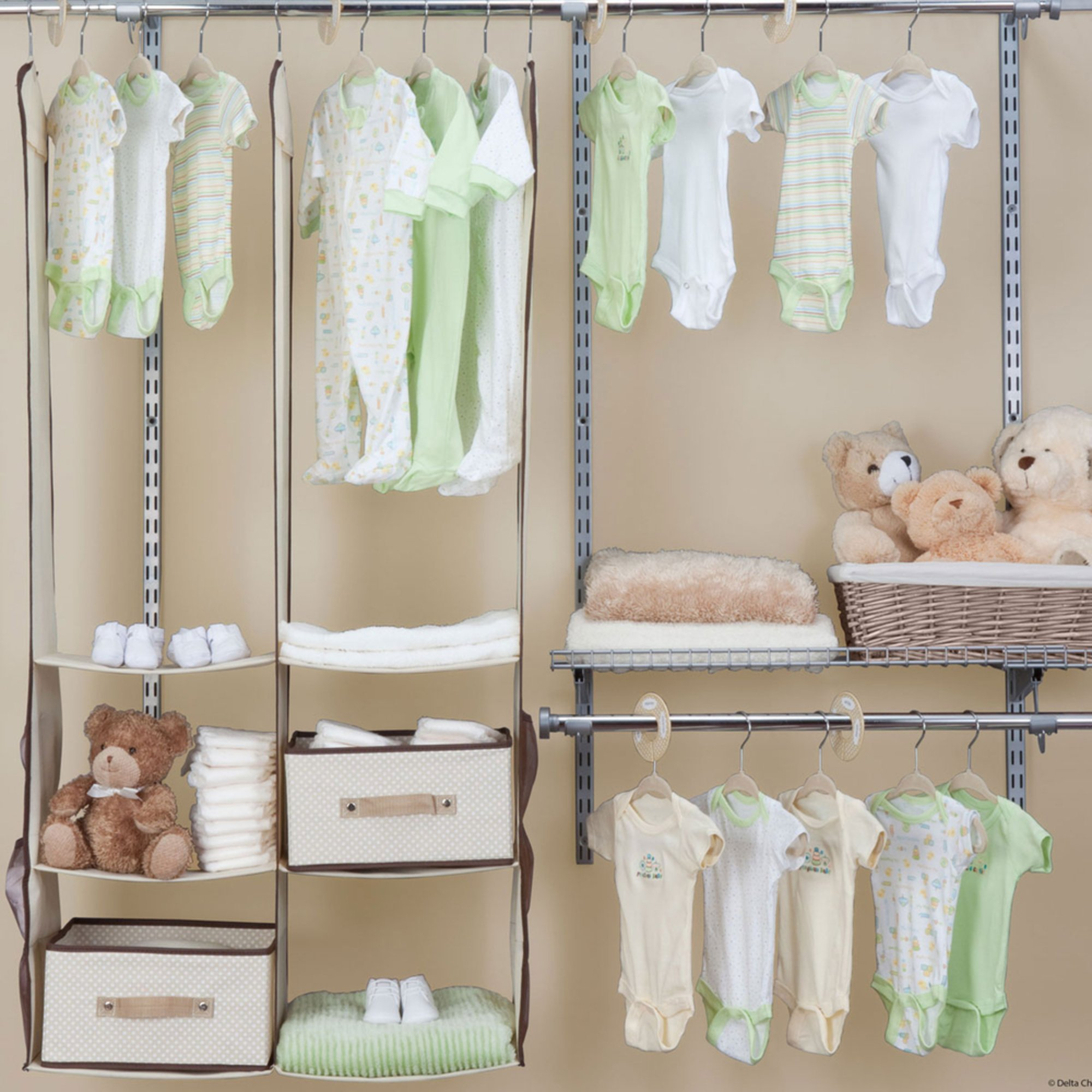 Delta 24 Piece Nursery Closet Organizer Set