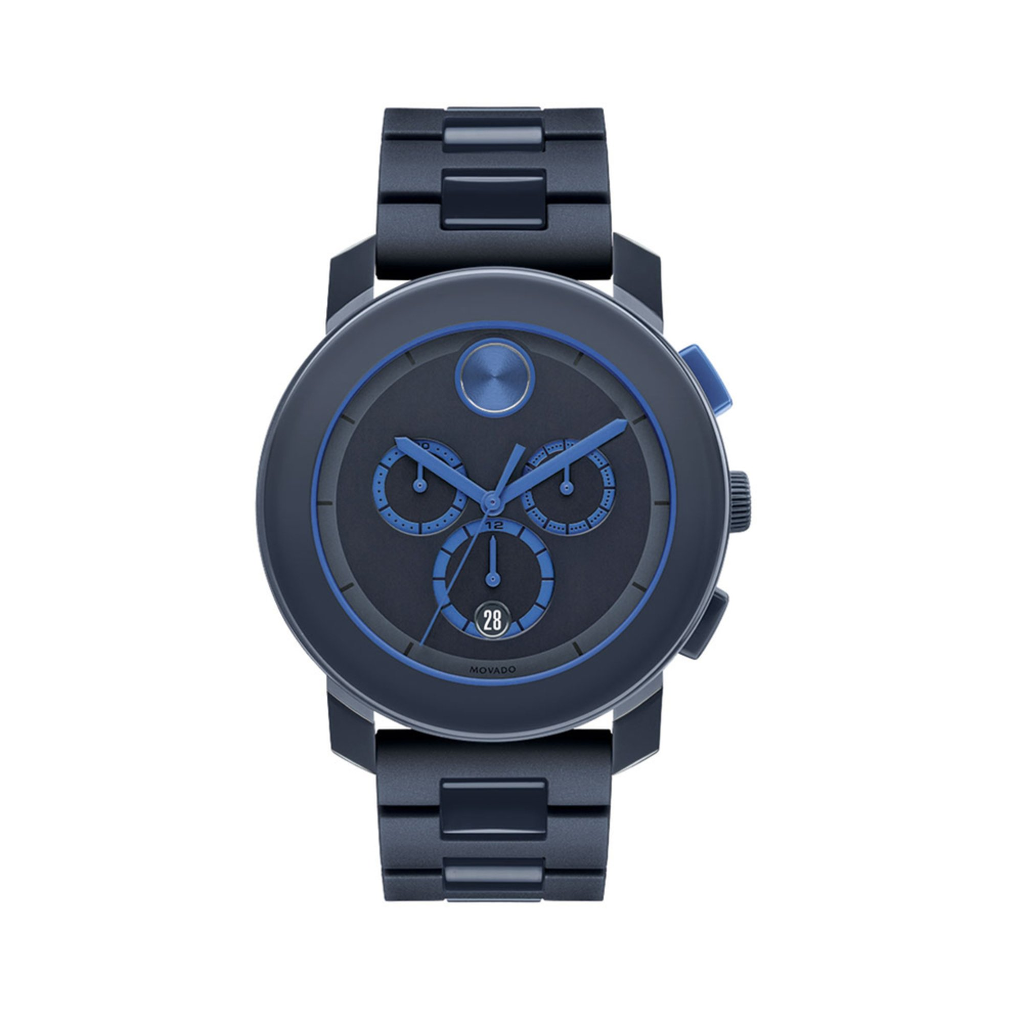 movado bold s chronograph stainless steel and