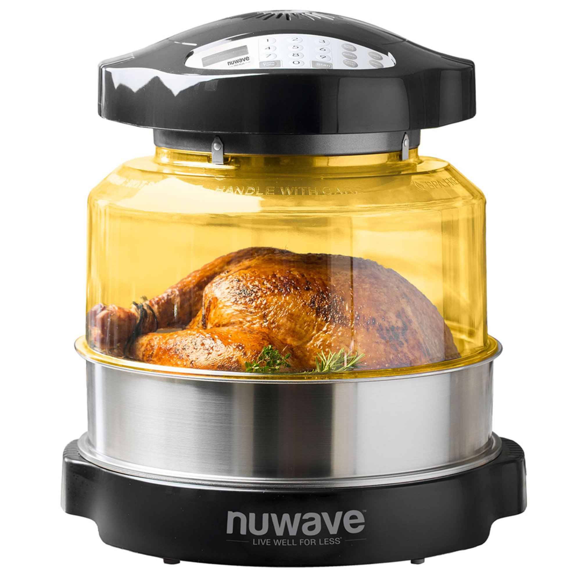 The As Seen on TV NuWave Oven Pro uses triple combo cooking power to cook your food up to 50 percent faster — while using up to 85 percent less energy.
