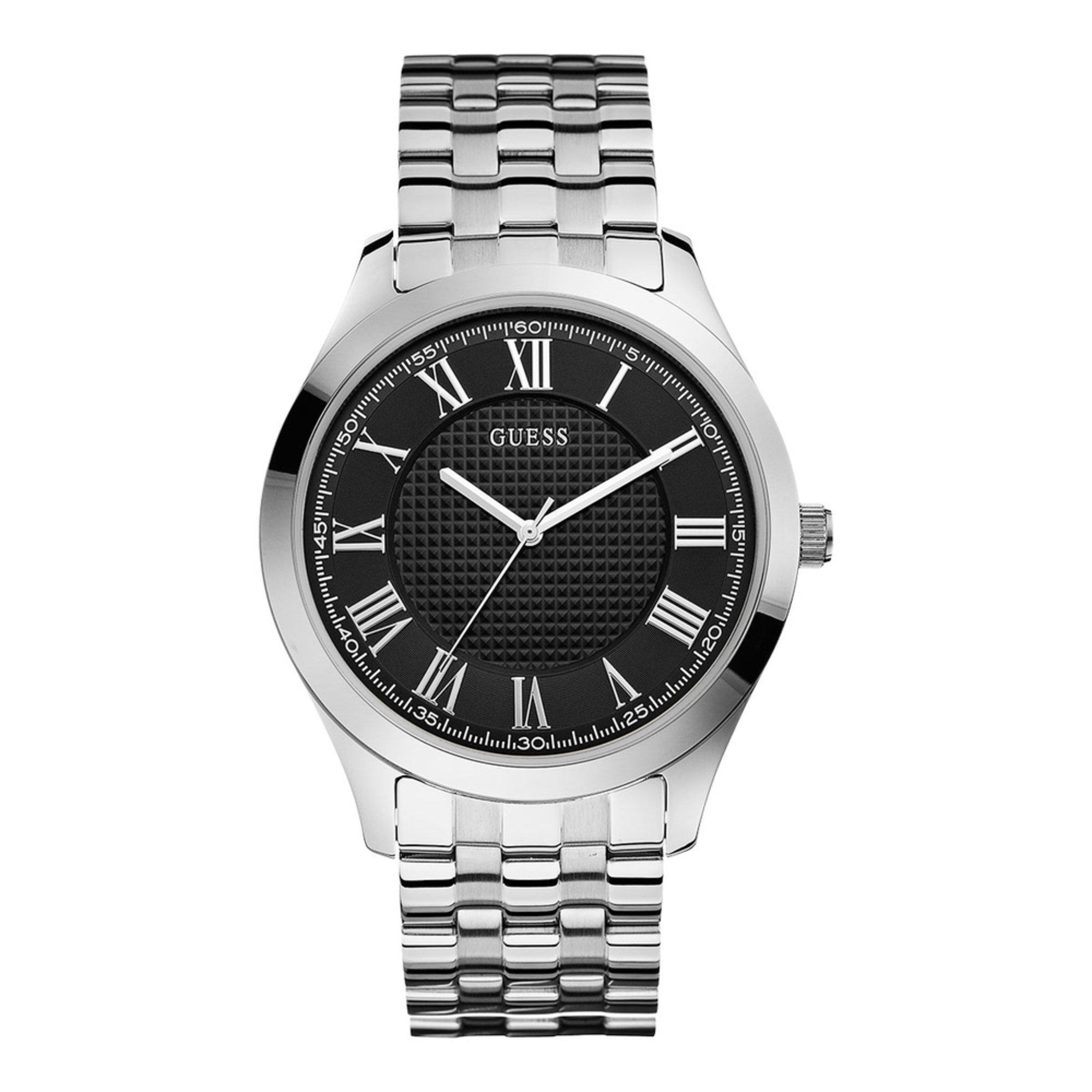 Guess Men's Stainless Steel Bracelet Watch, 44mm