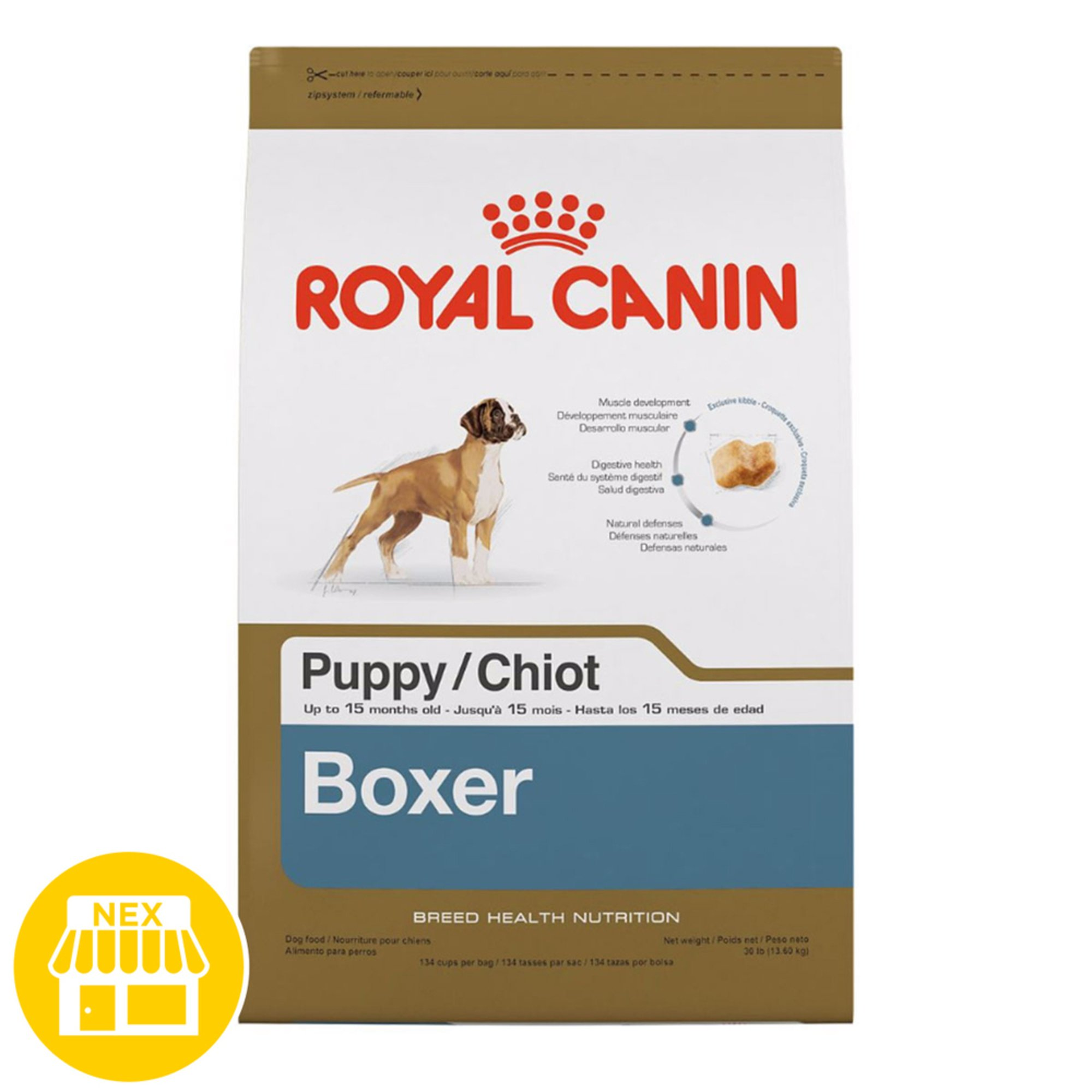 royal canin boxer puppy dry dog food 30 lbs dog food pet shop your navy exchange. Black Bedroom Furniture Sets. Home Design Ideas
