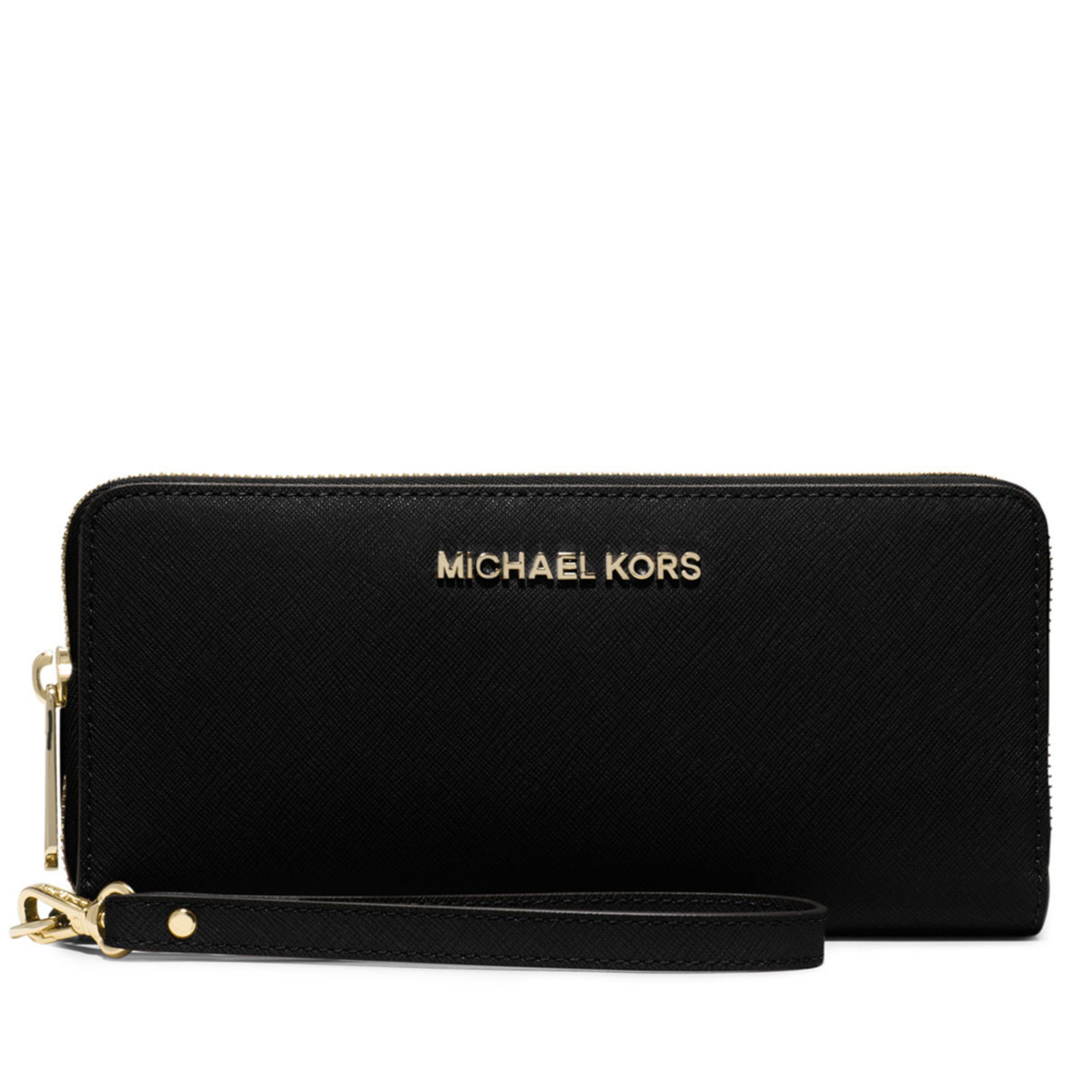 e4550e11d8c96 Michael Kors Jet Set Travel Continental Wristlet Black