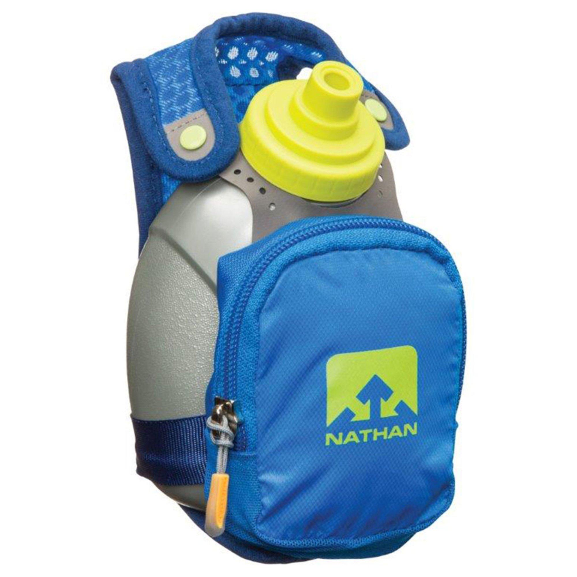 Nathan quick shot plus 10 oz running flask blue running water 0 malvernweather Gallery