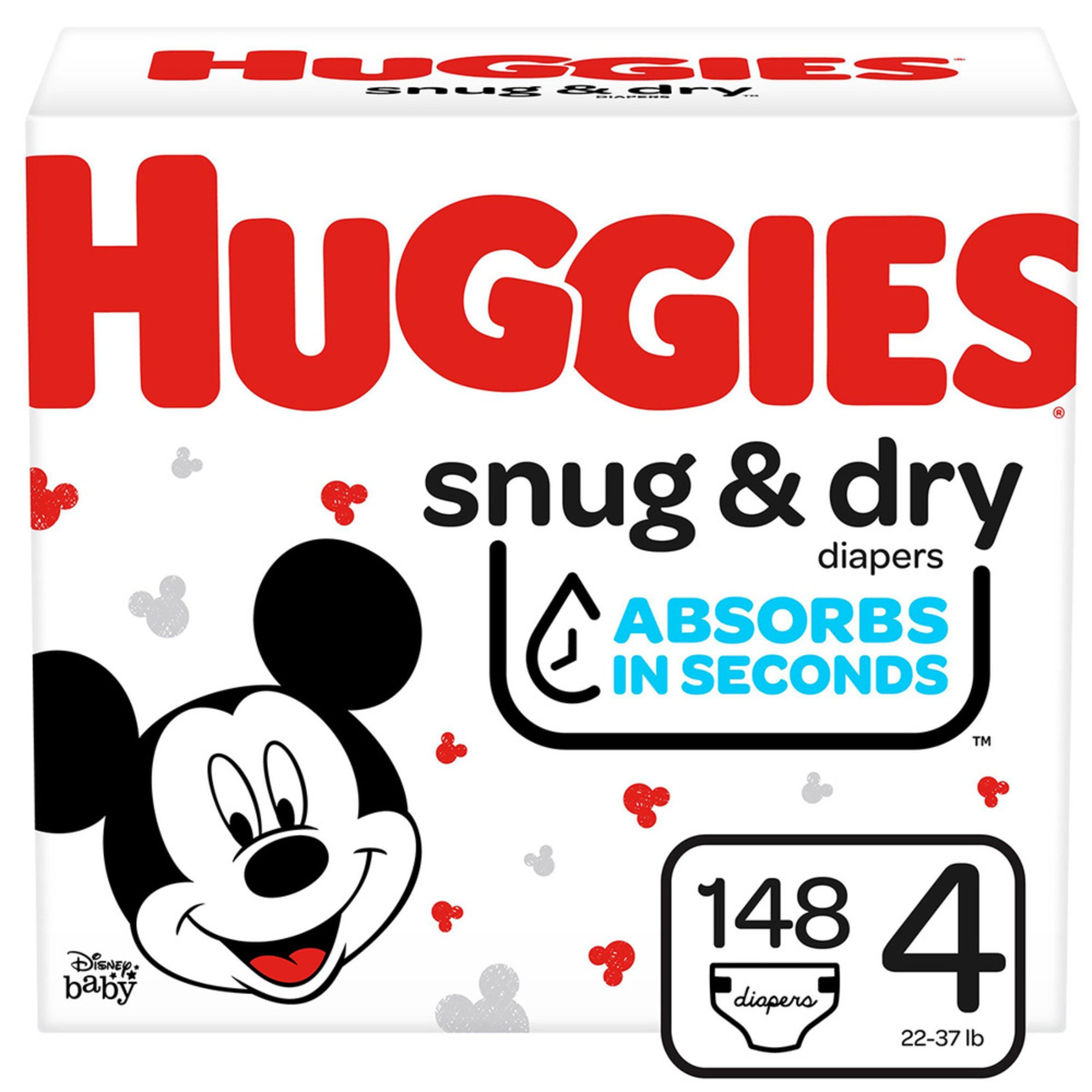 Huggies Snug & Dry - Size 4, Giant Pack 156-count | Disposable ...