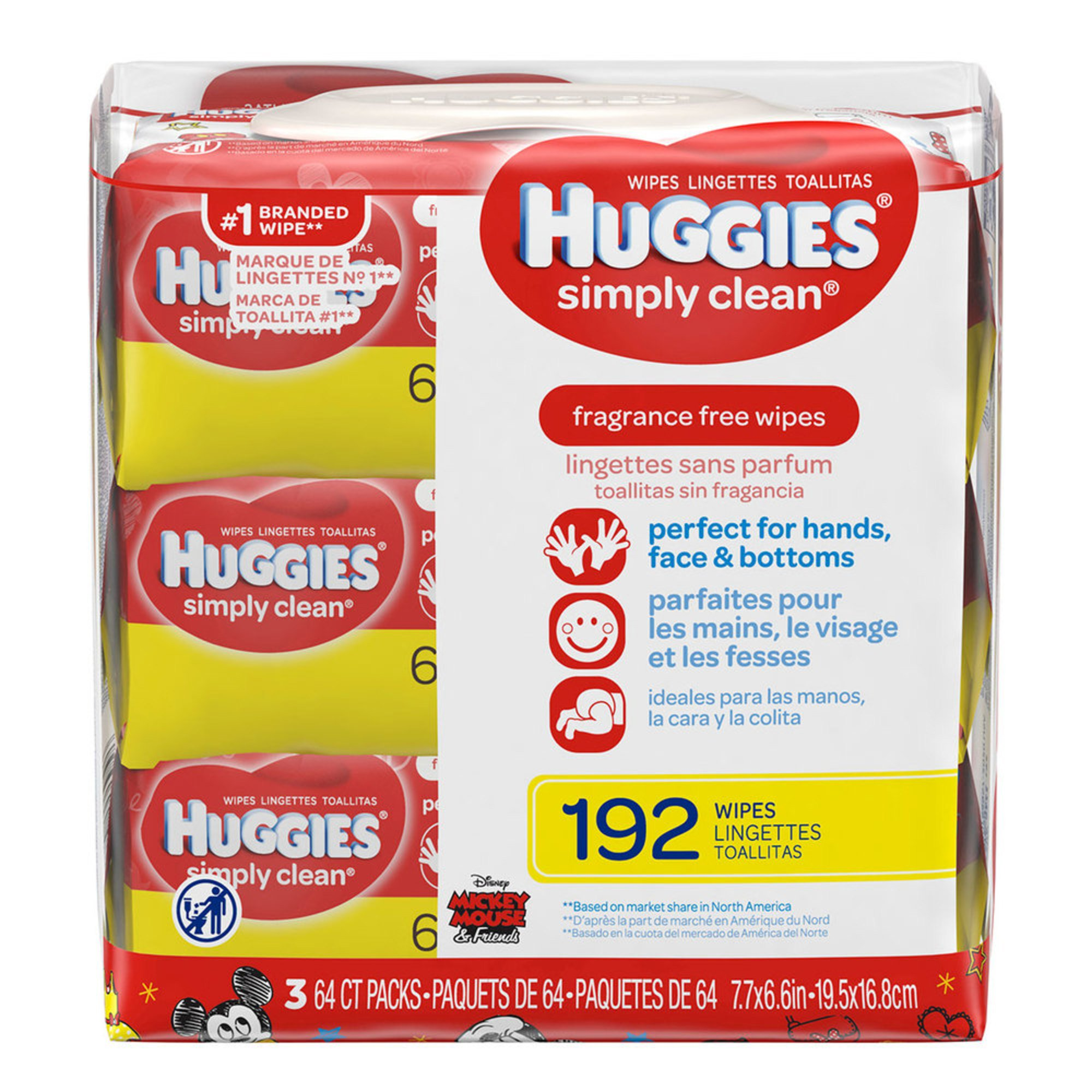 Huggies Simply Clean Unscented Baby Wipes 216 Count 3