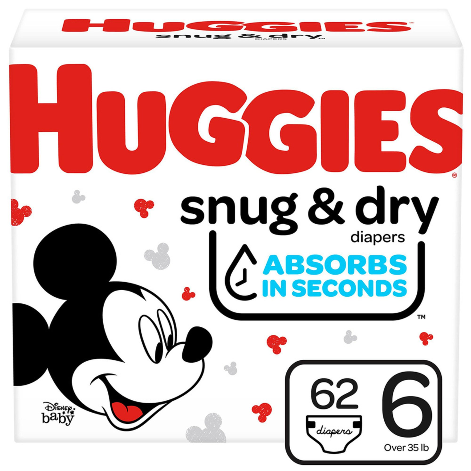 Huggies Snug & Dry - Size 6, Super Pack 80-count | Disposable ...