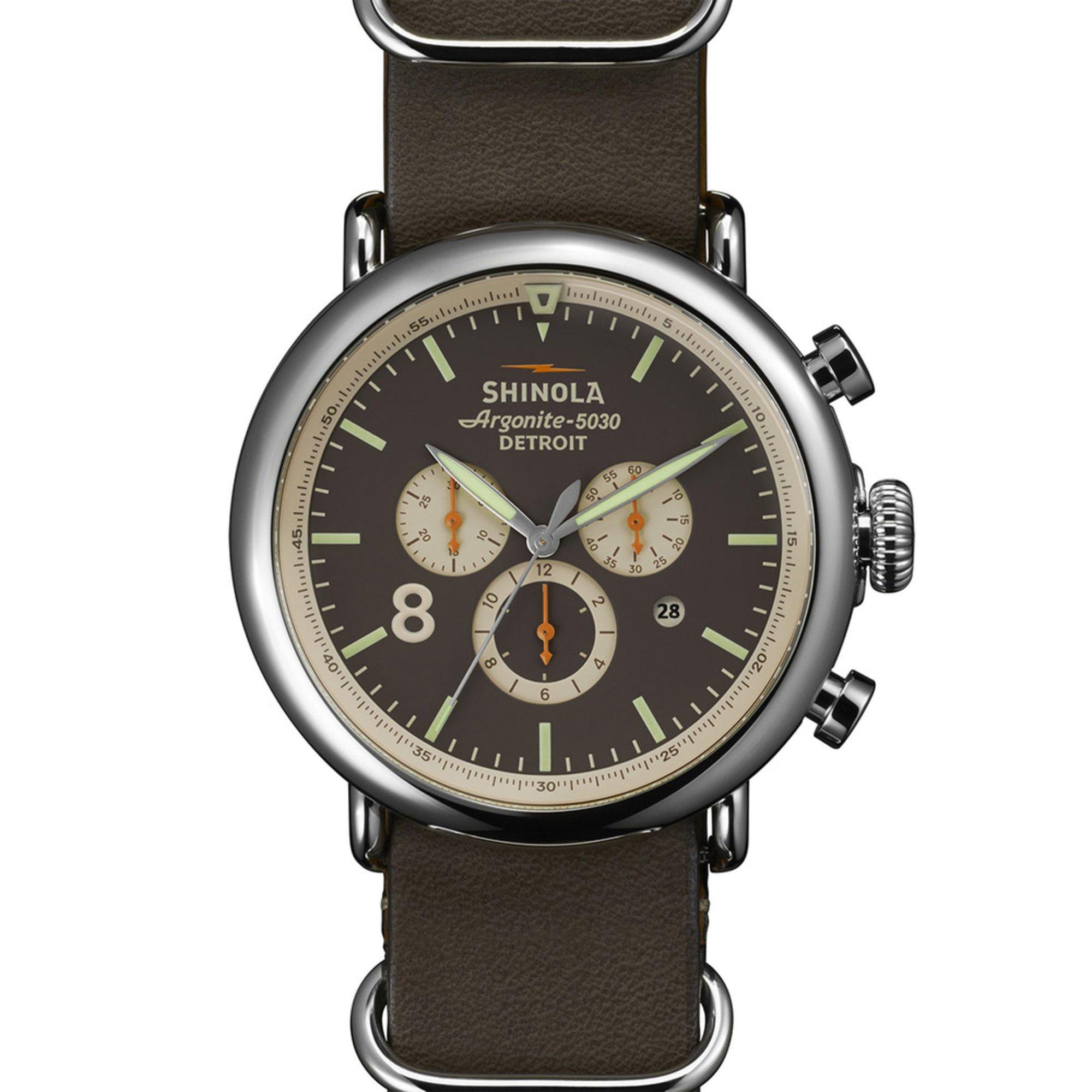 shinola s runwell sport chronograph leather