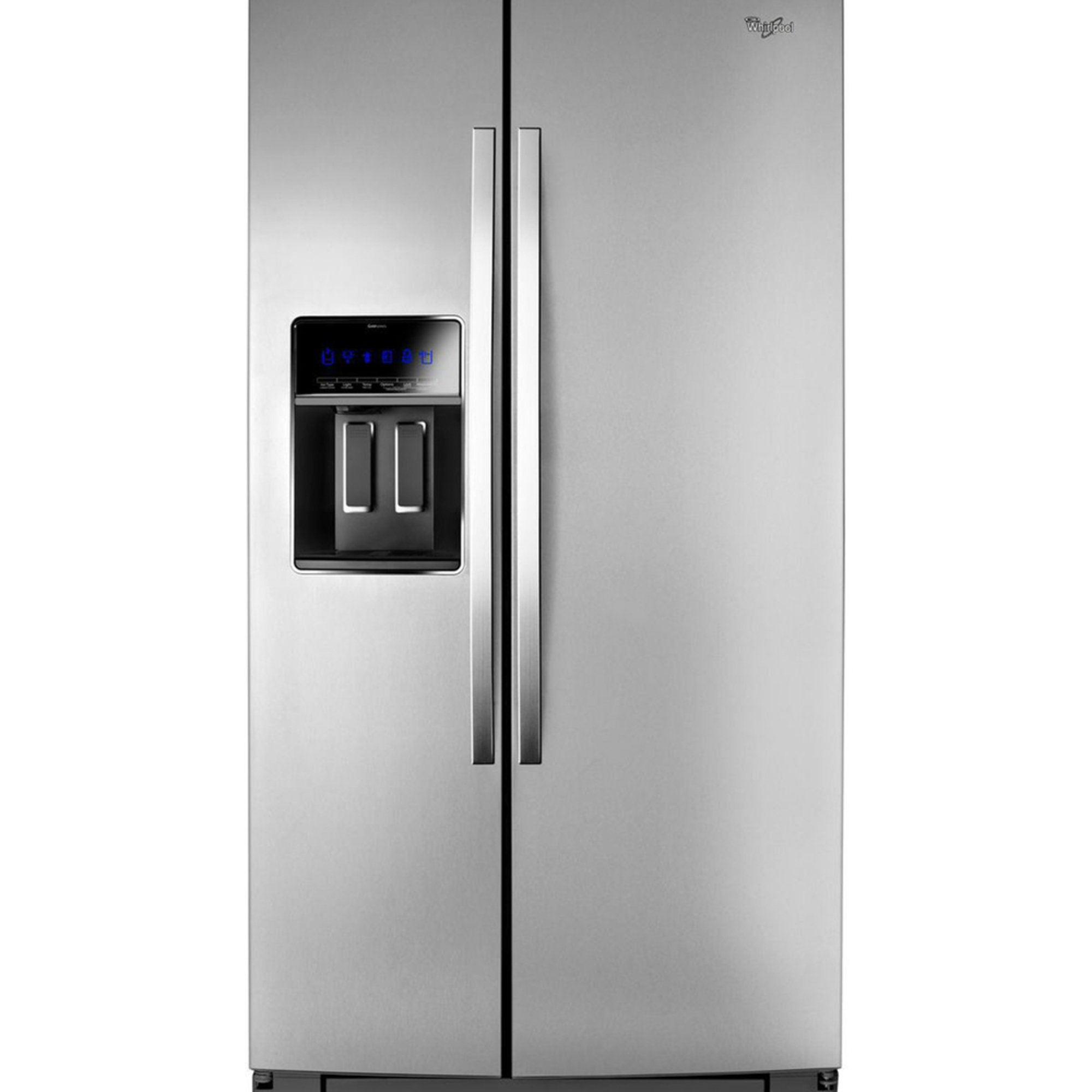 whirlpool 25 side by side refrigerator stainless steel wrs975sidm graveyard home. Black Bedroom Furniture Sets. Home Design Ideas