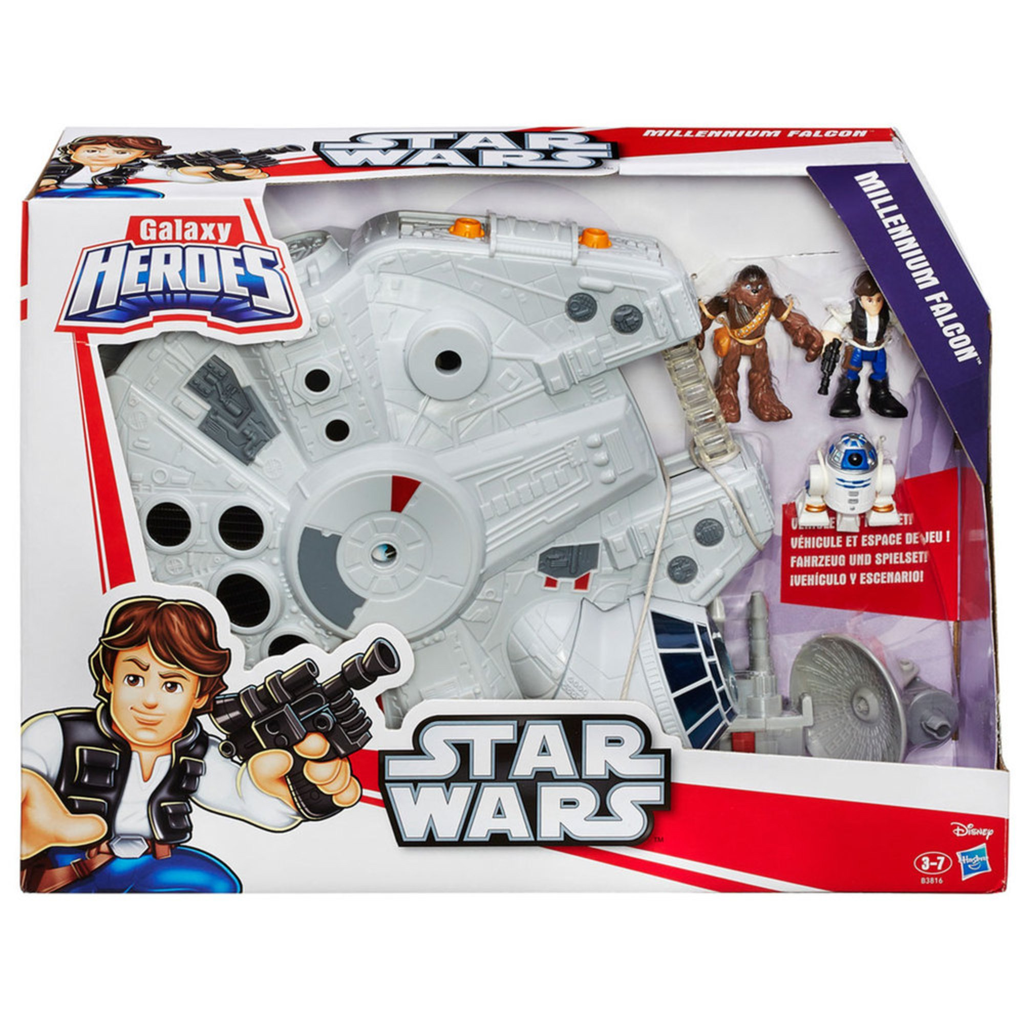 Star Wars Galactic Heroes Millenium Falcon Early Learning Toys Baby Kids Your Navy Exchange Official Site