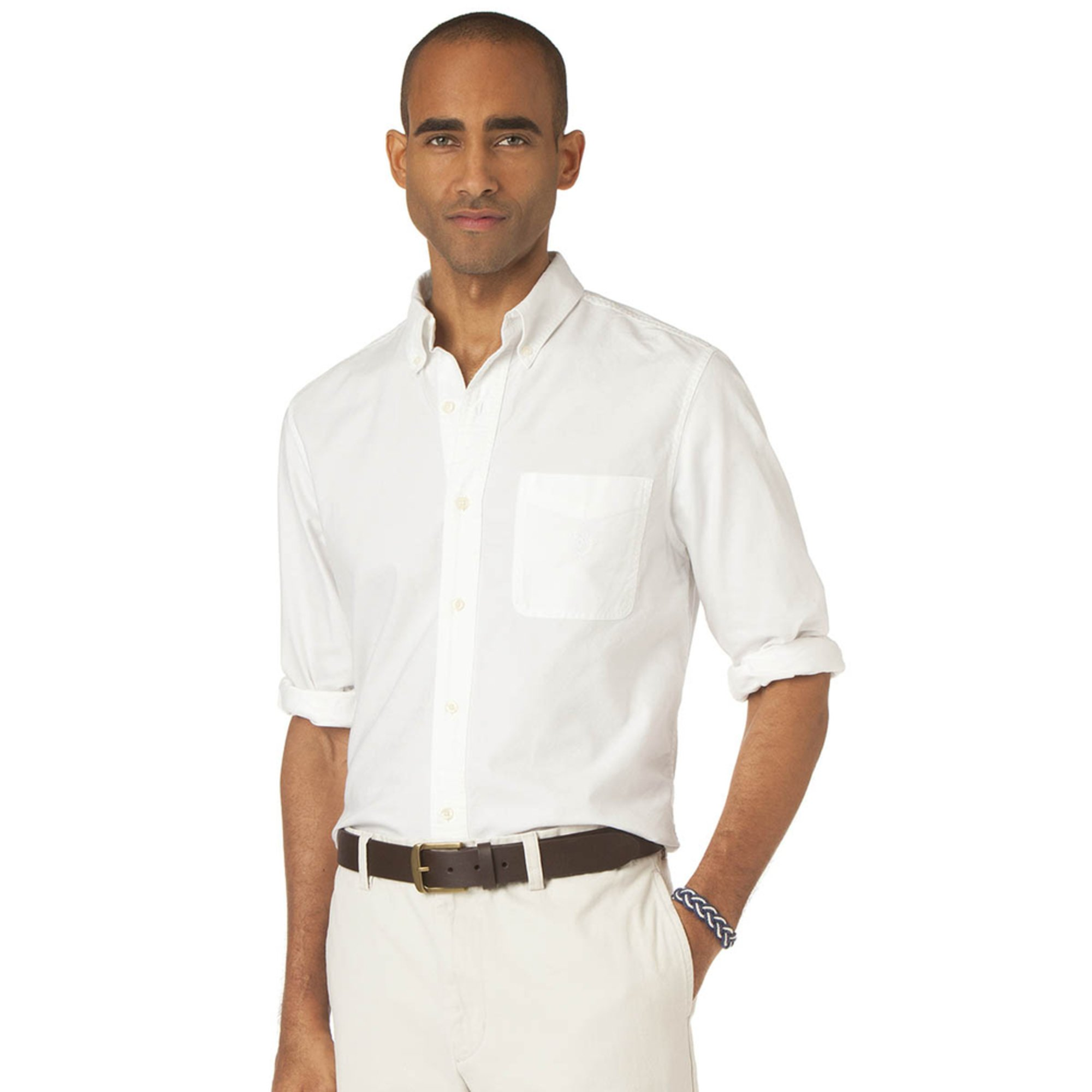 Chaps men 39 s big tall solid oxford shirt collection for Chaps button down shirts