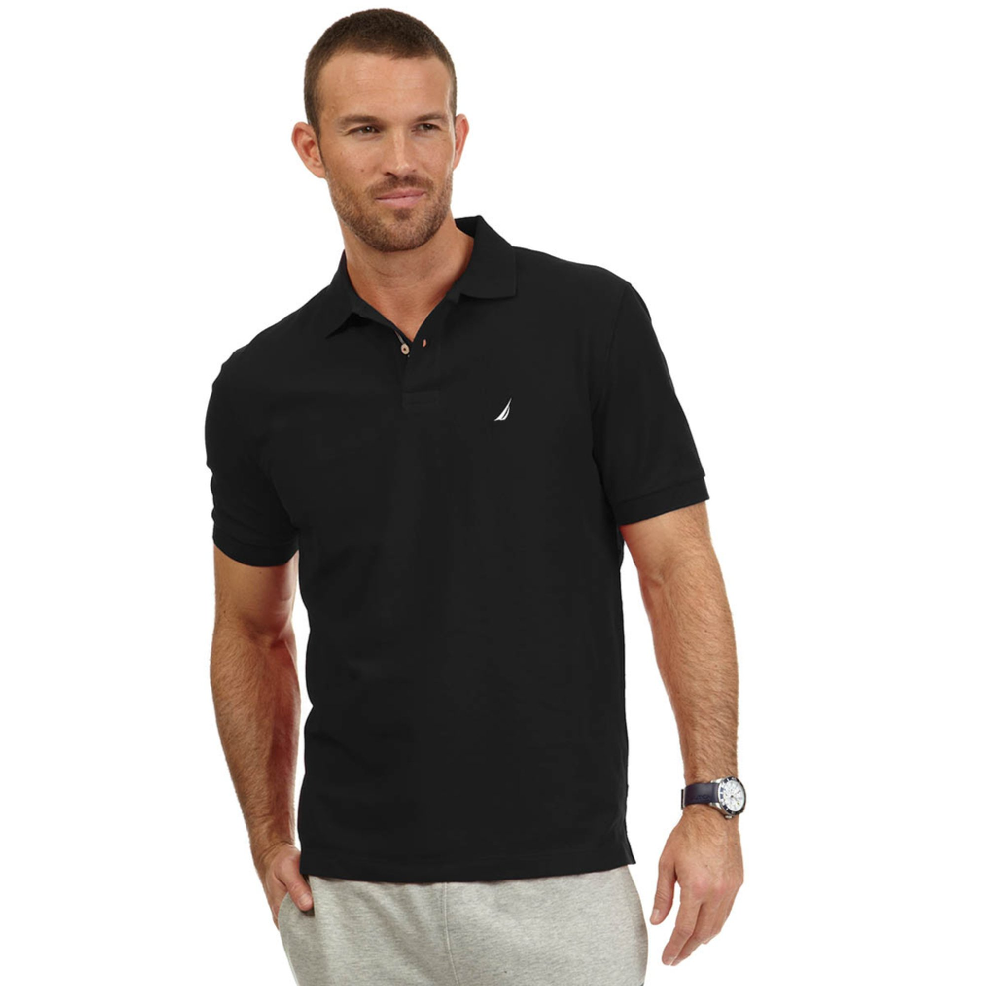 Nautica men 39 s big tall solid deck polo men 39 s apparel for Big and tall polo rugby shirts