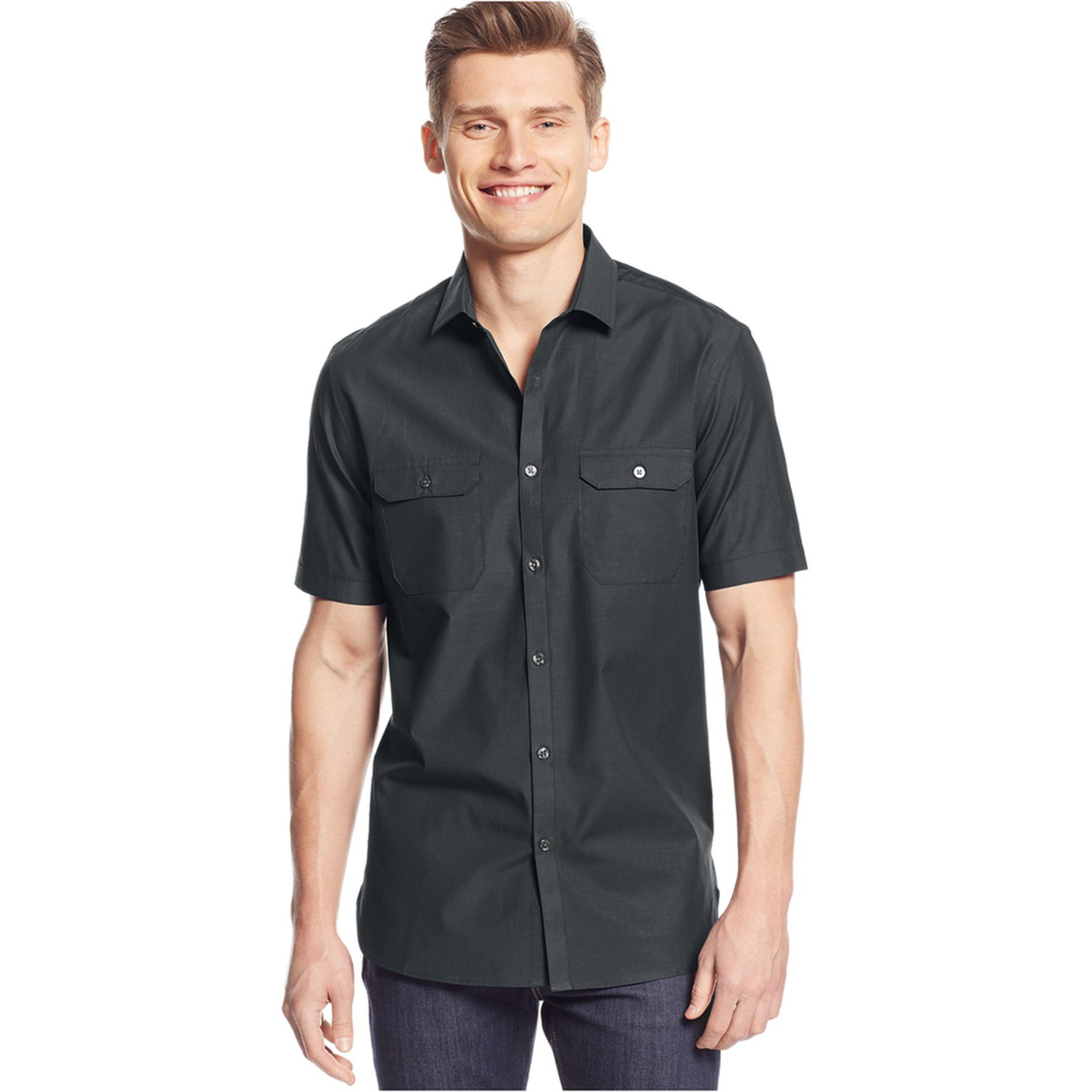 alfani s chambray shirt s clothing