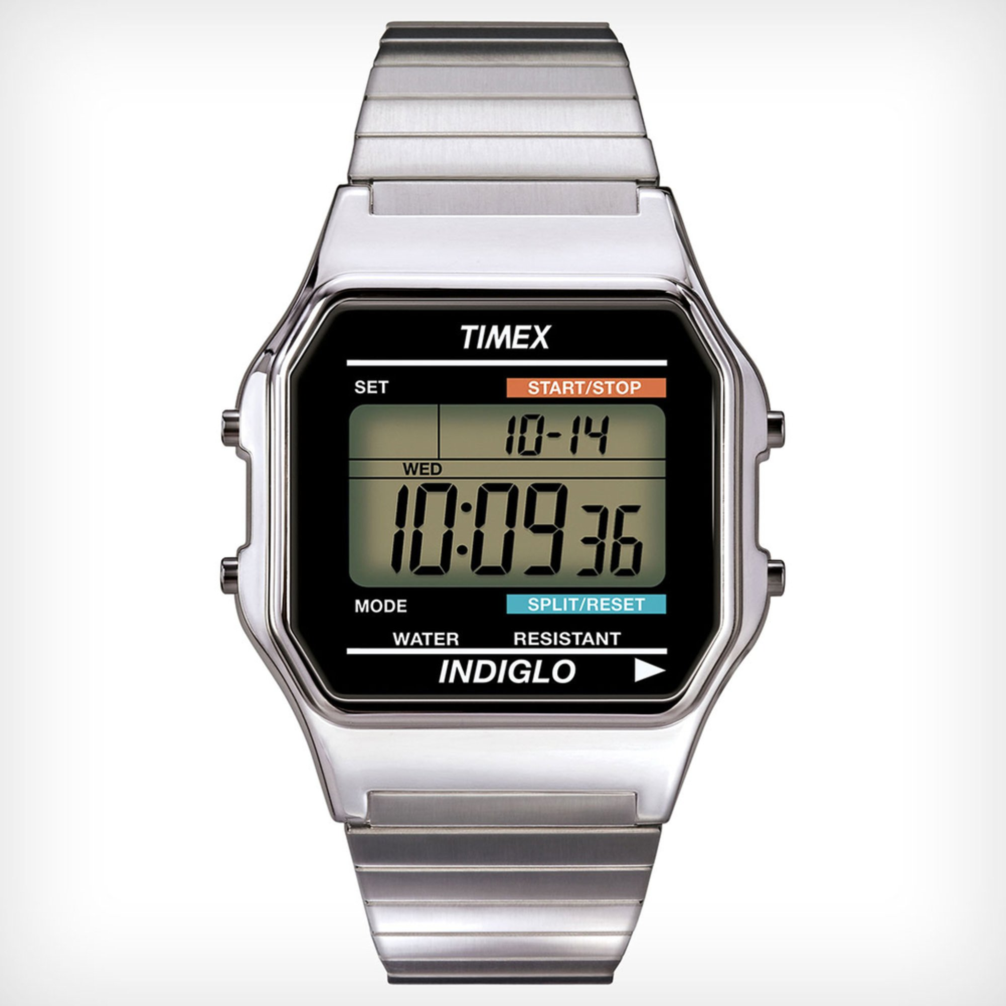 5dd191402 Timex Men's Classic Digital Stainless Steel Expansion Band Watch ...
