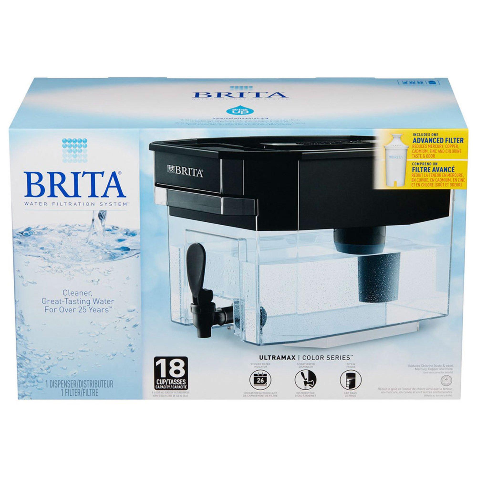 Brita 18-cup Ultramax Water Filter Dispenser, Black (36039)   Water ...
