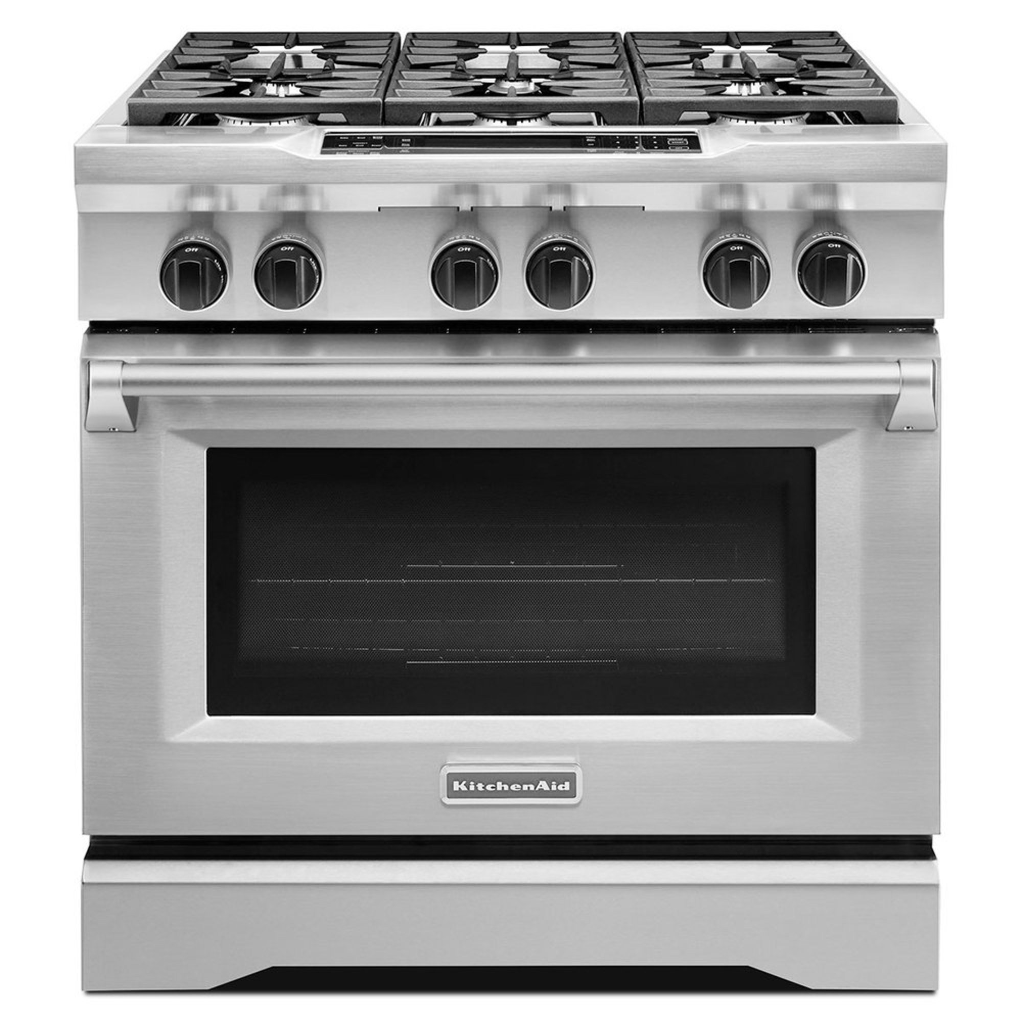 Kitchenaid 36 6 Burner Dual Fuel Freestanding Range Stainless