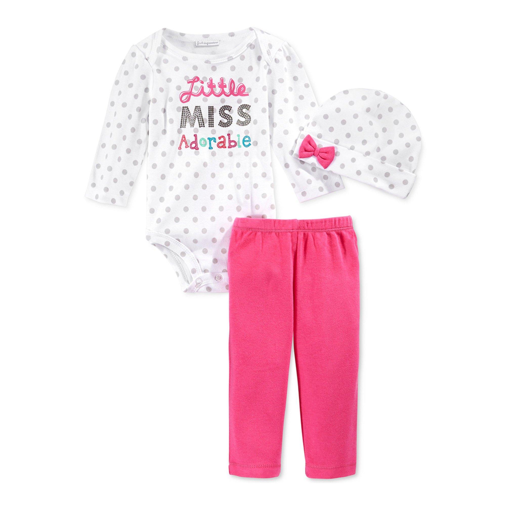 First Impressions Baby Girls' 3-piece Bodysuit Set ...