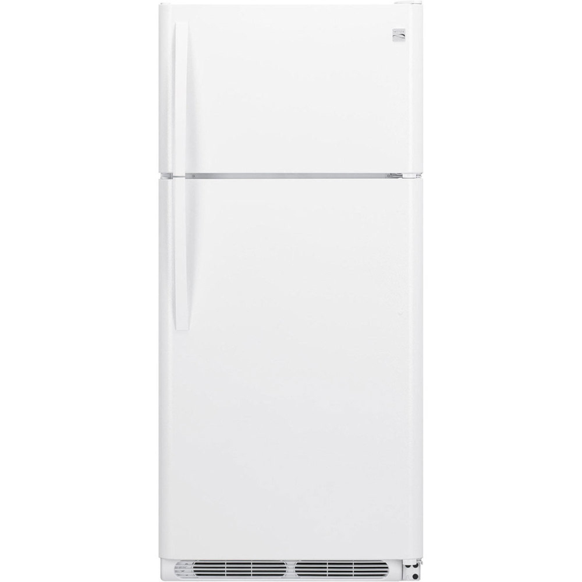 Kenmore 18-cu.ft. Top-freezer Refrigerator W/ Wire Shelves, White ...
