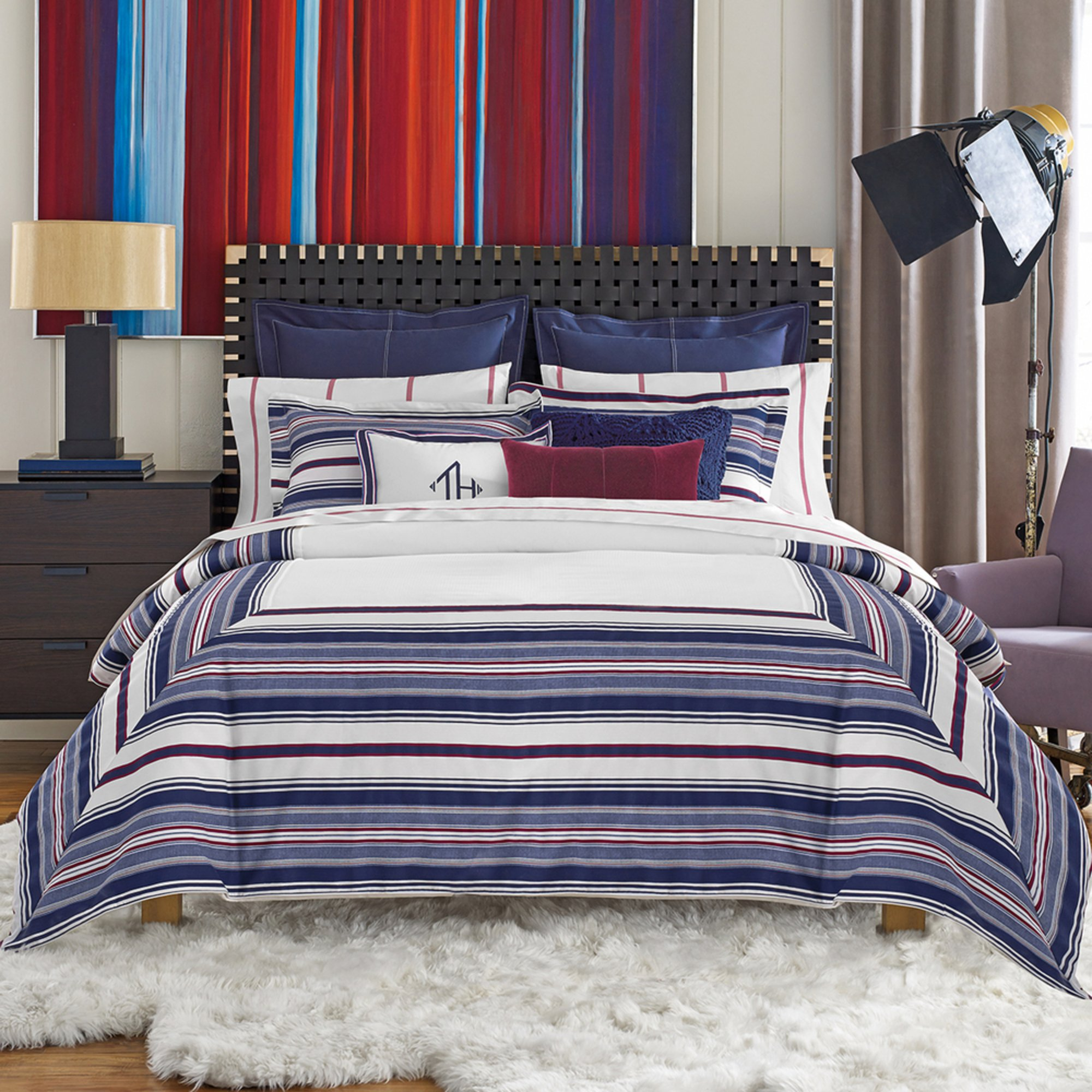Tommy Hilfiger Sutton Stripe Comforter Set King