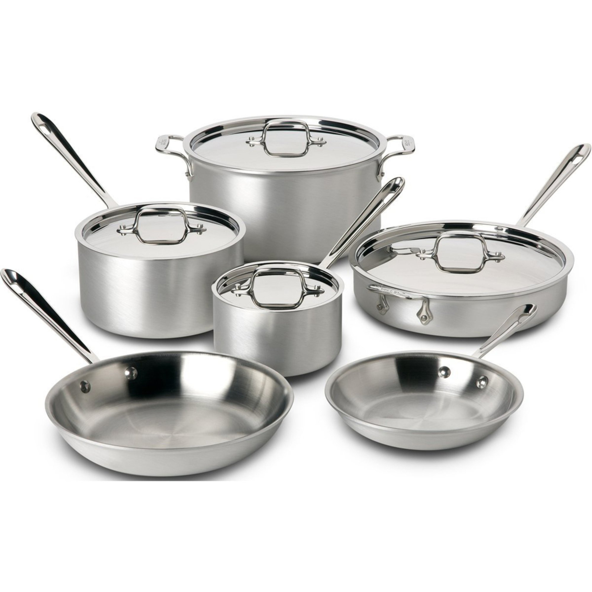All Clad D5 Brushed Stainless Steel 10 Piece Cookware Set Search