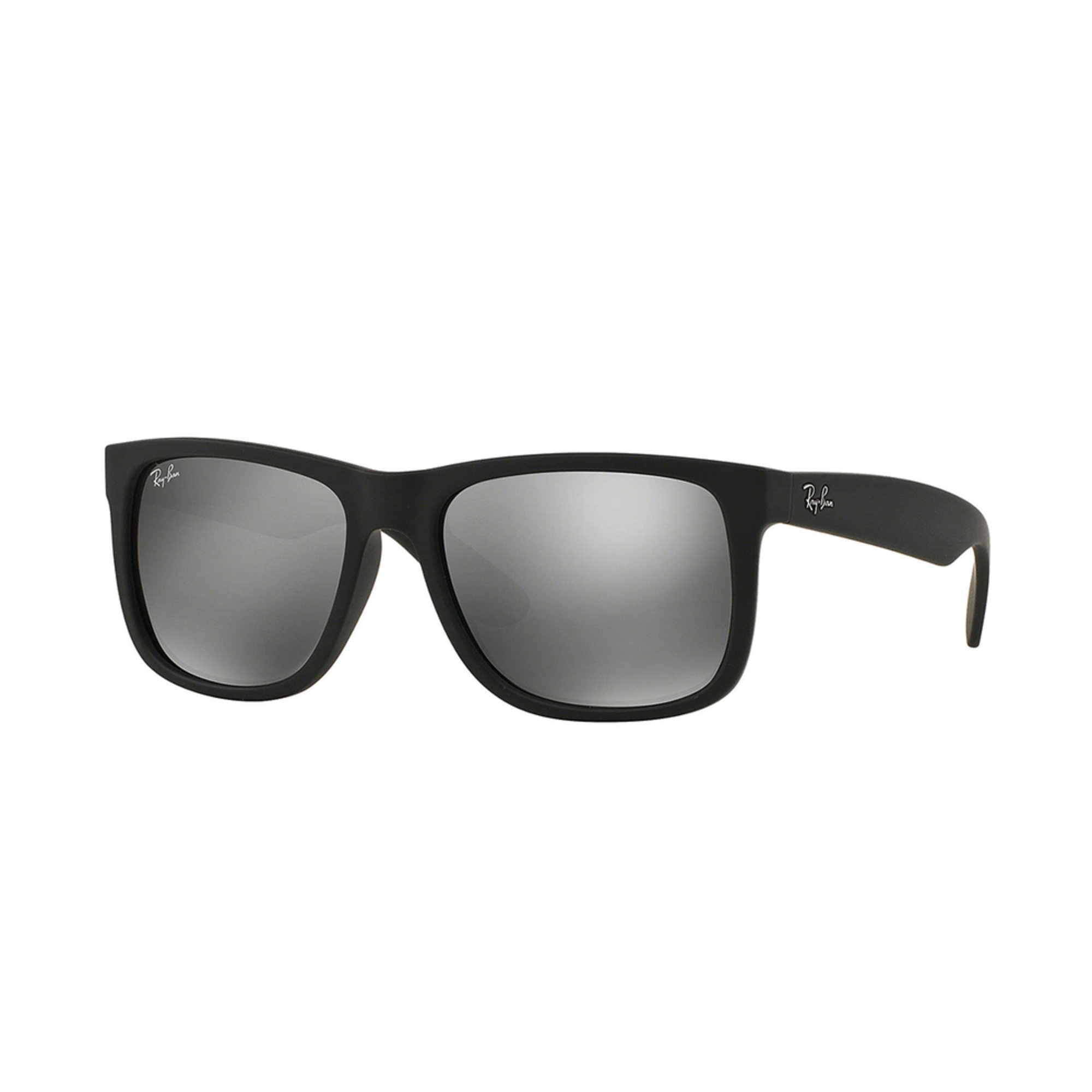 137405dce0 Ray-Ban. Ray-Ban Unisex Justin RB4165 Black Polarized Gray Mirror Sunglasses  55mm