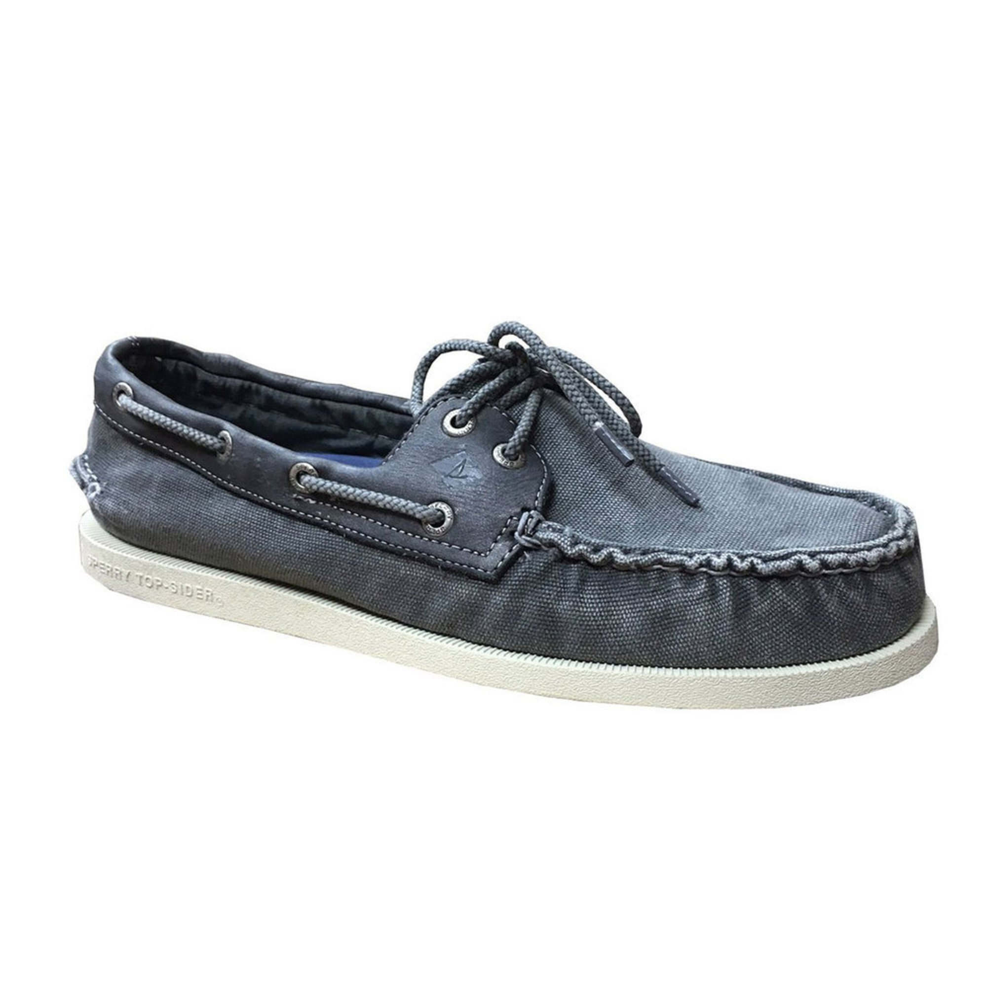 Sperry Top Sider Eye Wedge Men Boat Shoe Grey Shoes