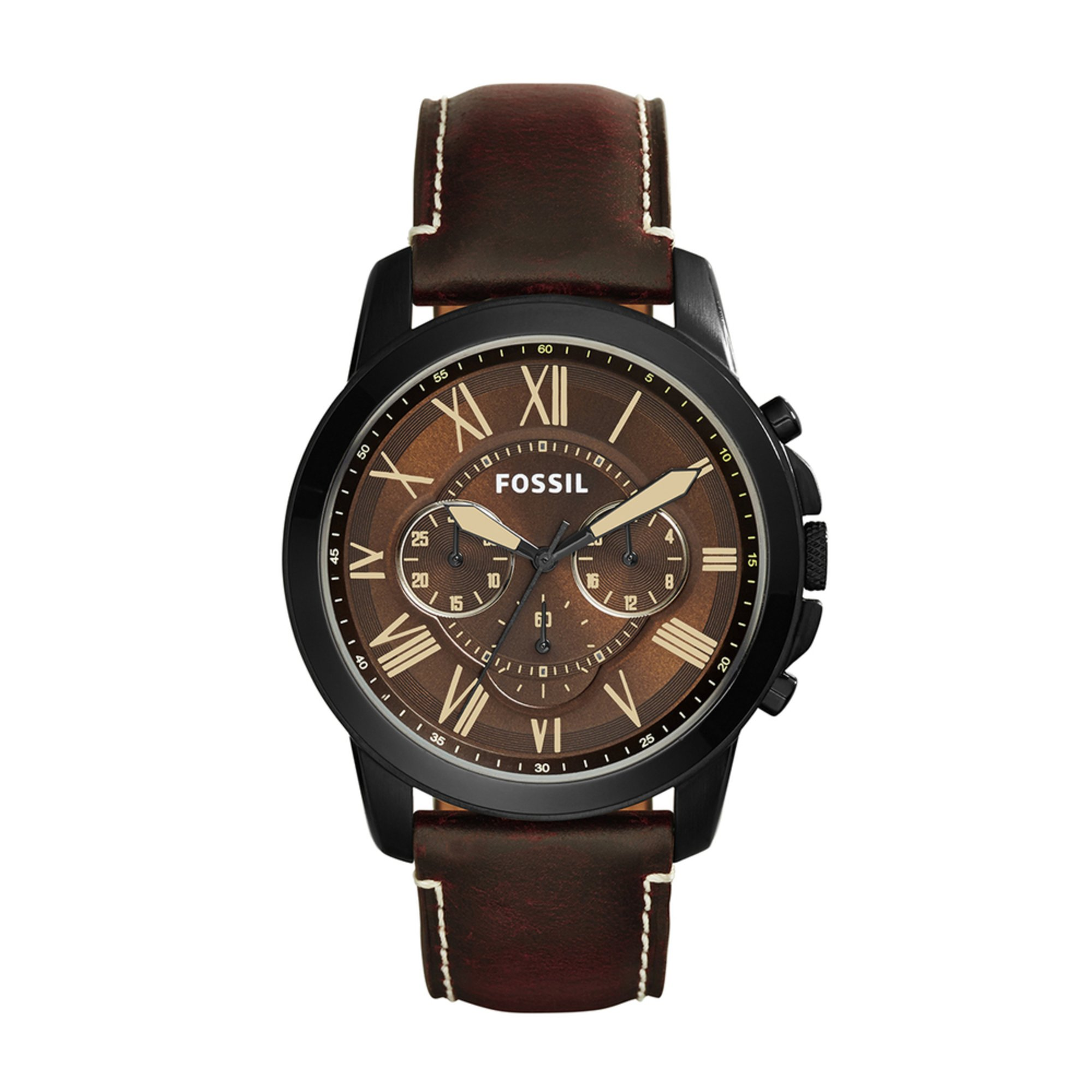 fossil s grant chronograph leather 45mm