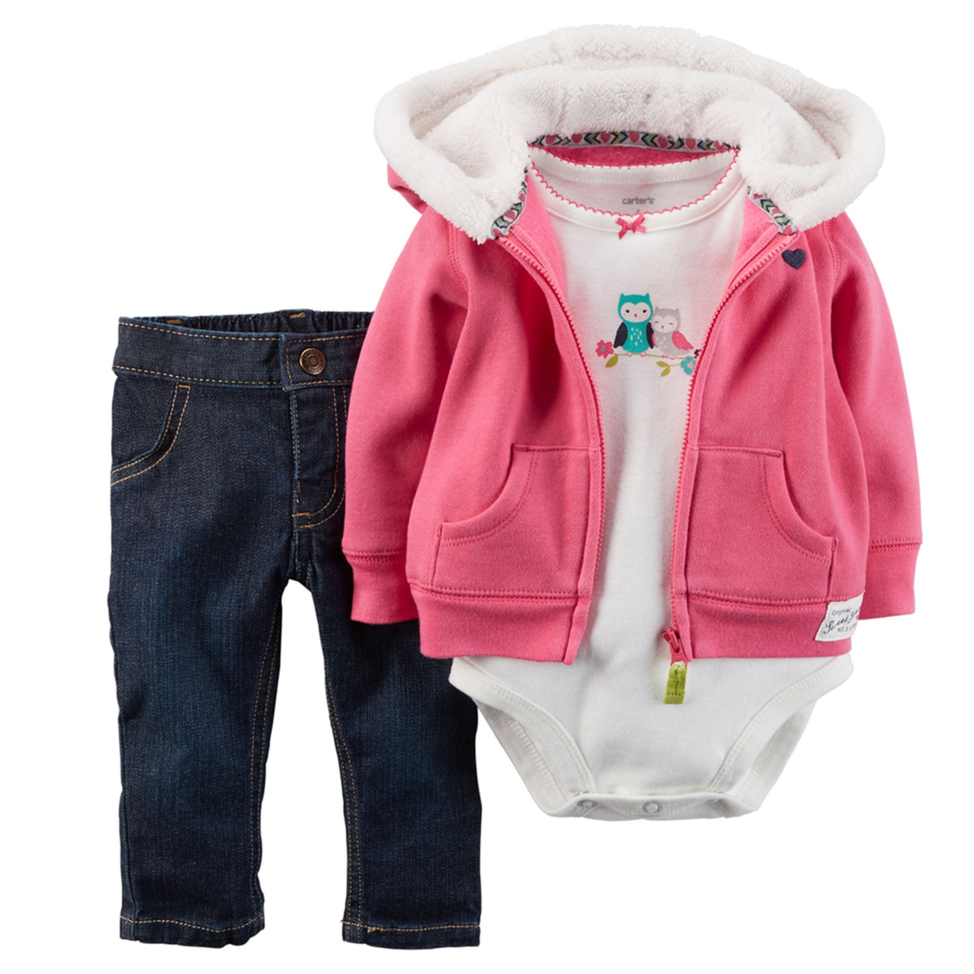 Carter's Baby Girls' 3-piece Cardigan Set - Pink | Baby ...