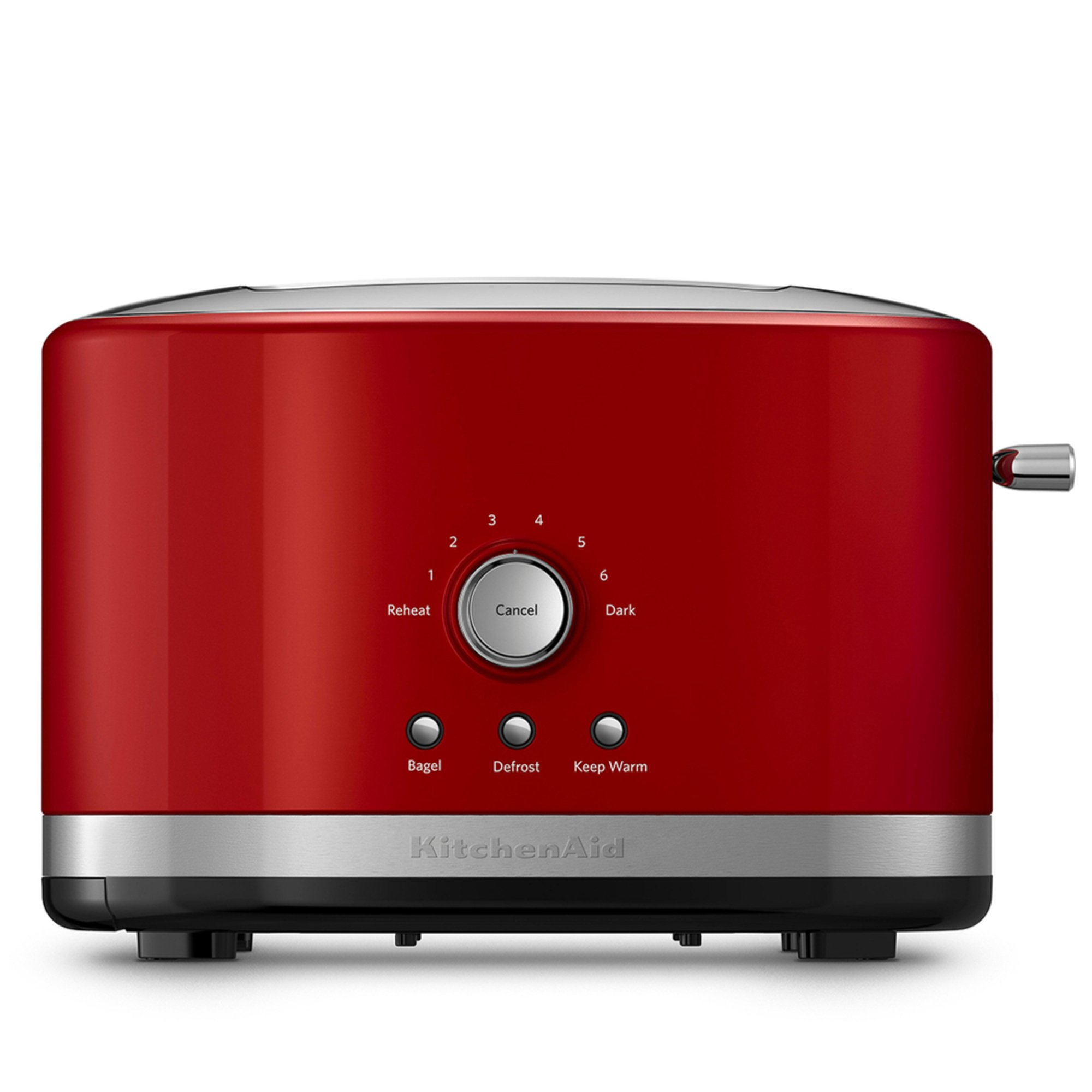 Product Description. Make a statement on your counter with the newly designed KitchenAid 4-Slice Toaster, which accommodates a variety of shapes and sizes of Artisan breads.