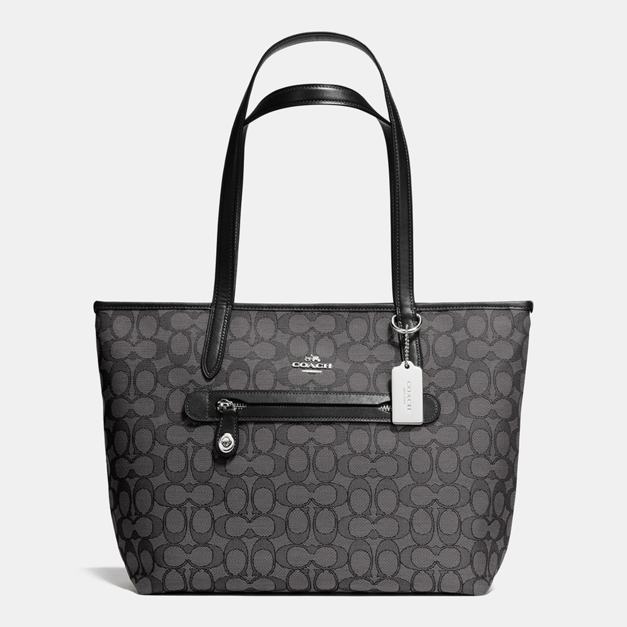 Coach Signature Taylor Tote Black Smoke/black