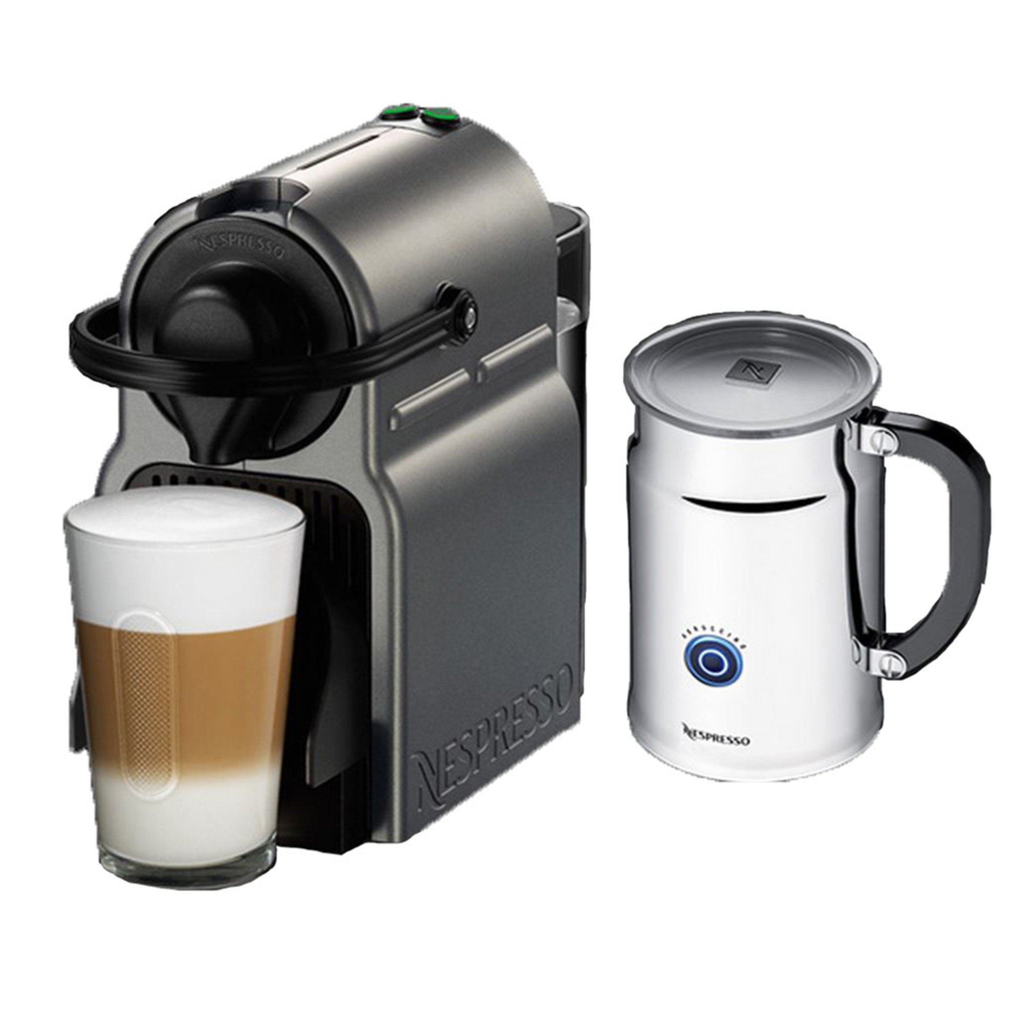 nespresso inissia espresso maker with aeroccino plus milk frother a c40 us ti ne espresso. Black Bedroom Furniture Sets. Home Design Ideas