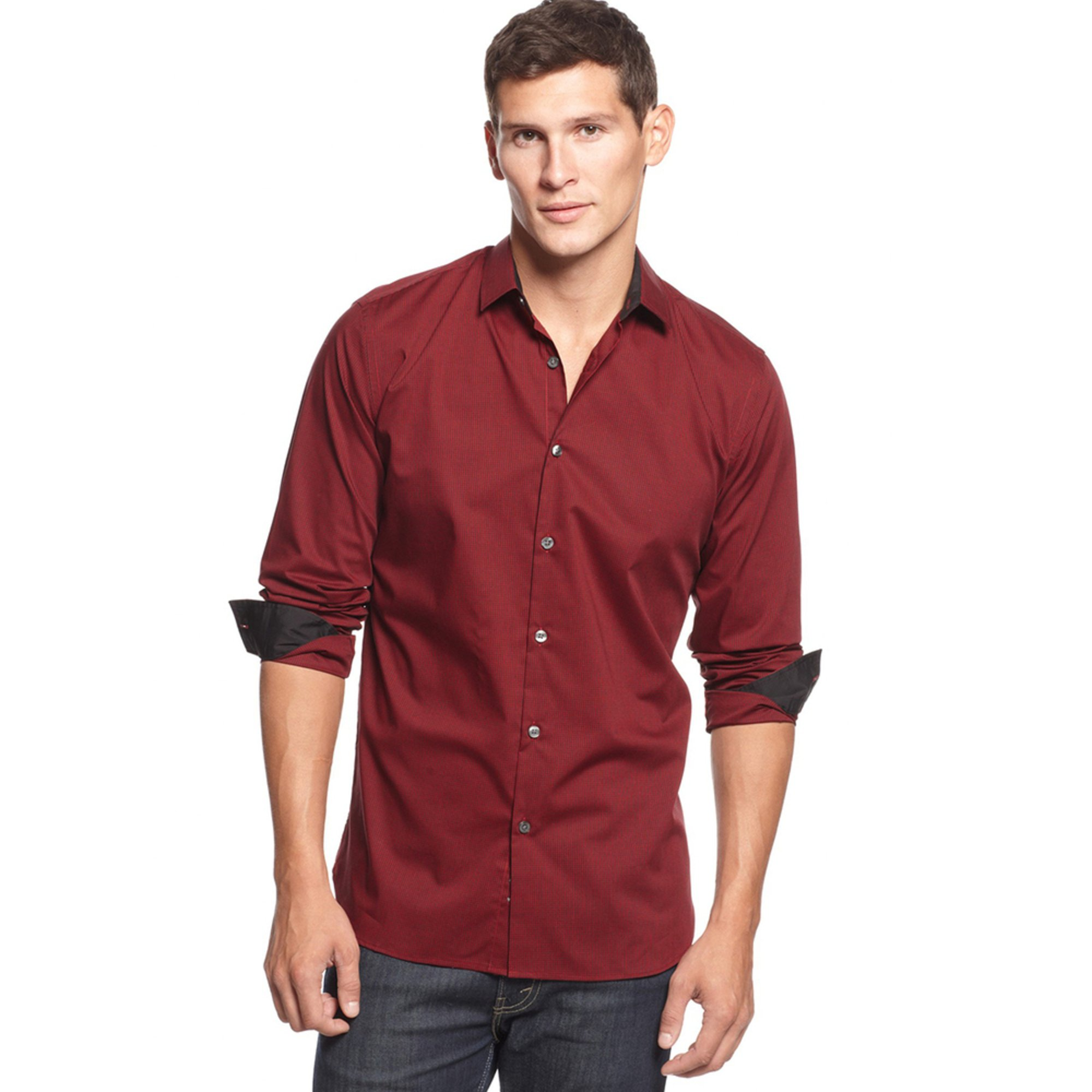 alfani s arem check sport shirt s clothing