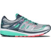 Saucony Zealot ISO 2 Women's Running Shoe Silver/ Mint/ Coral